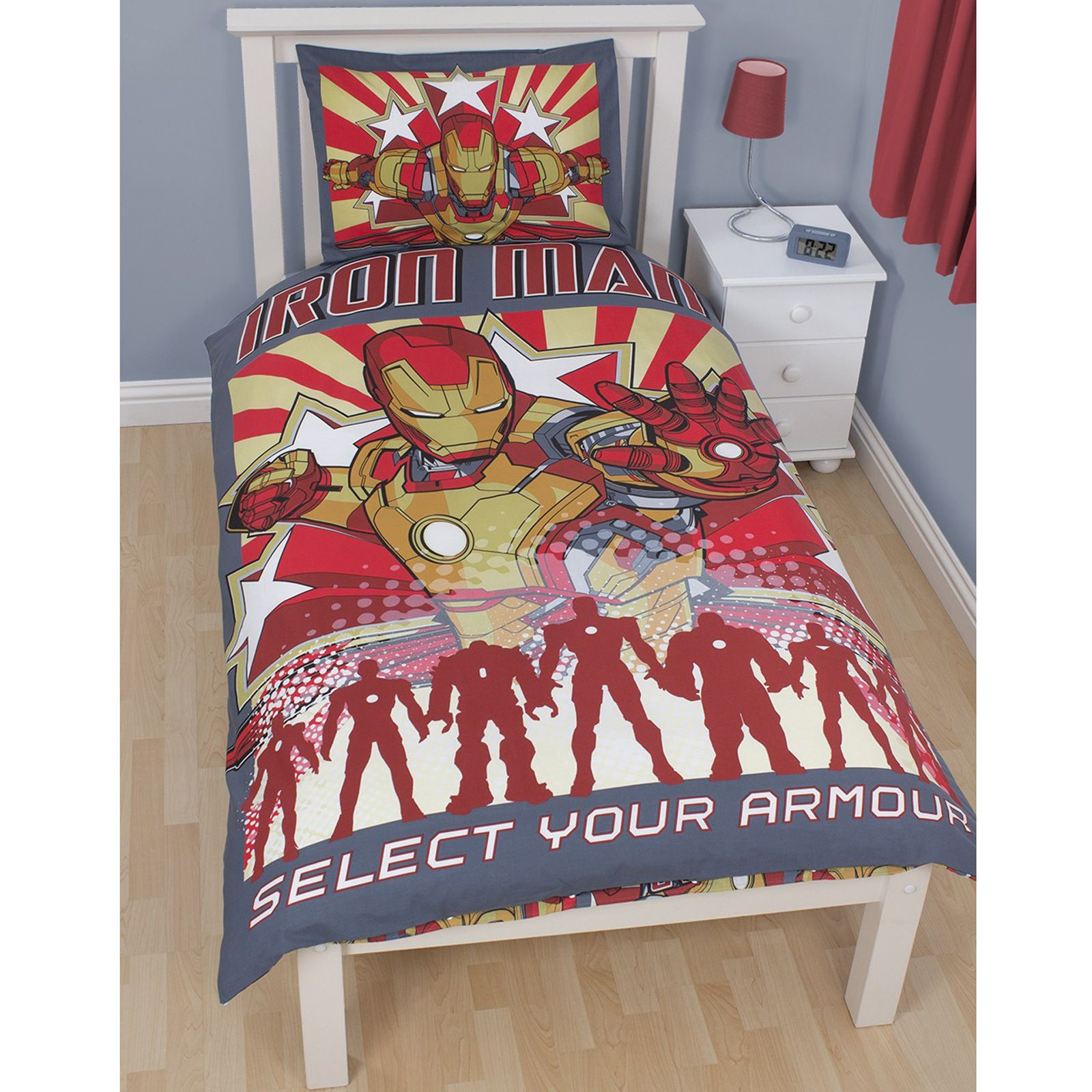 Iron Man 39 Armour 39 Duvet Cover Official New Marvel Avengers Initiative Reversible