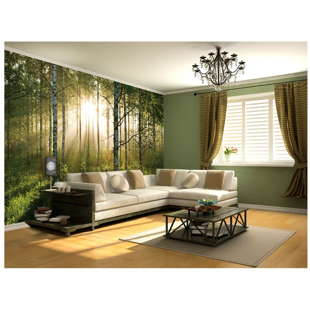 Wall murals room decor large photo wallpaper various sizes for Wallpaper for lounge wall