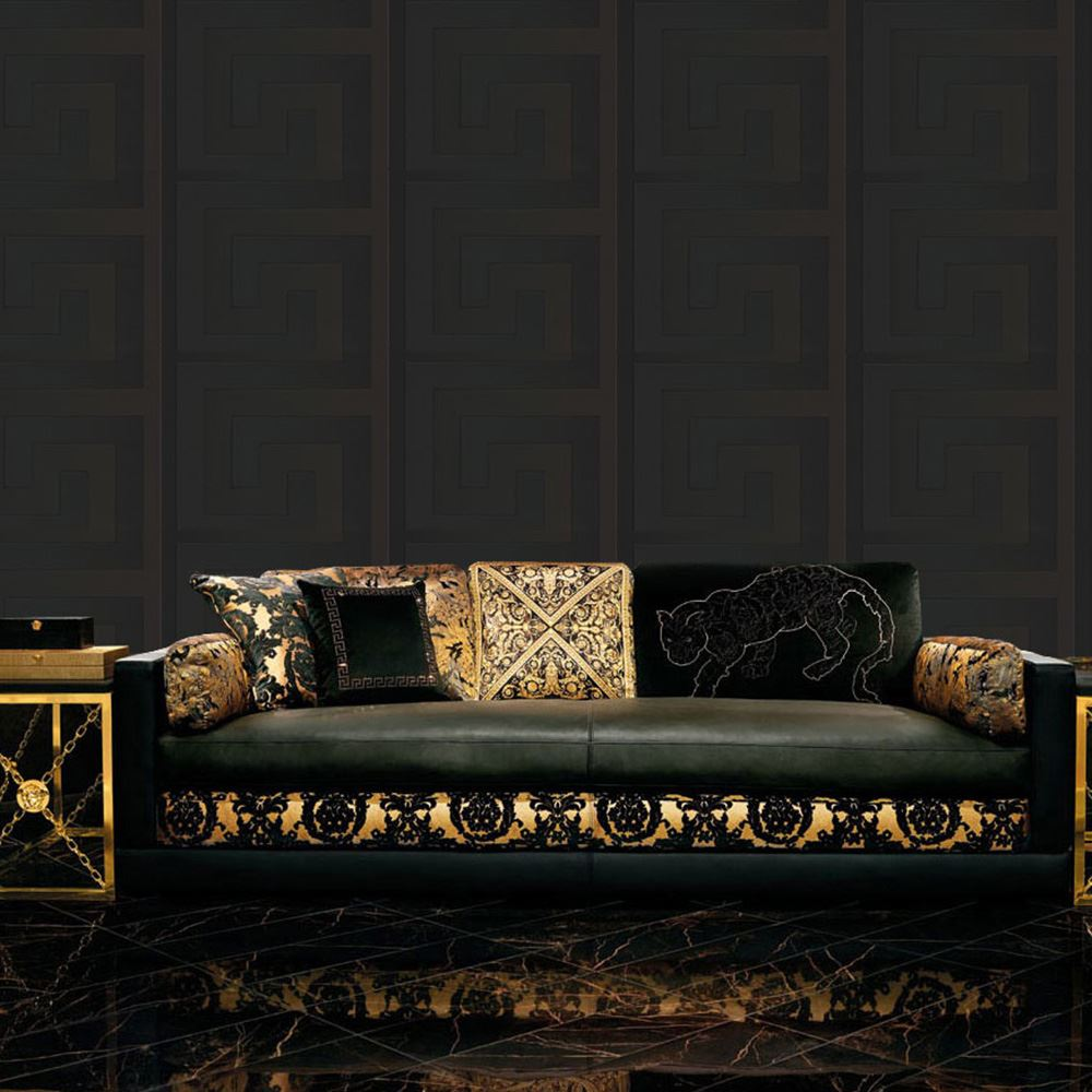 versace designer wallpaper and border range gold silver