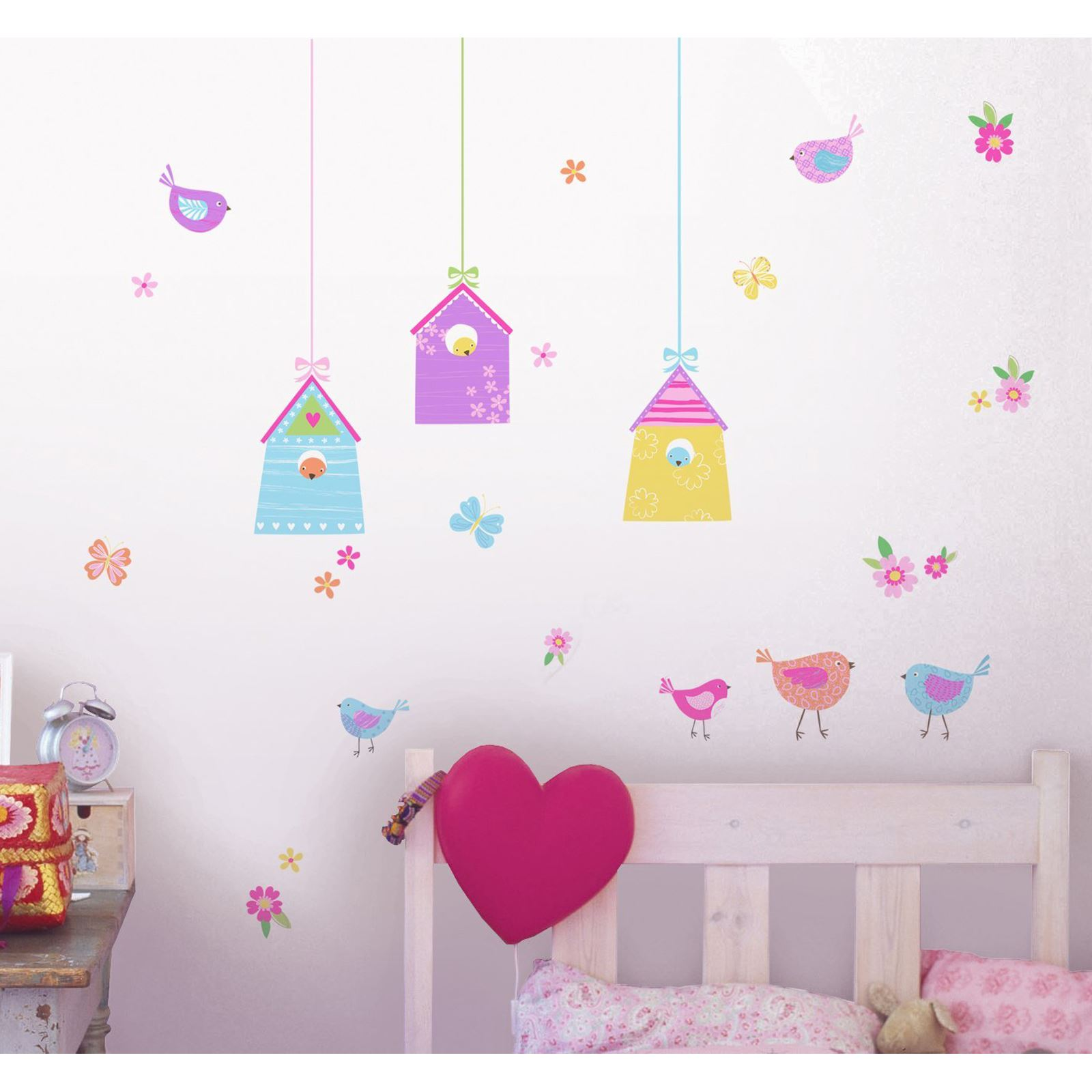 Bird Houses 35 Wall Stickers New Kids Bedroom Decor Butterflies Ebay