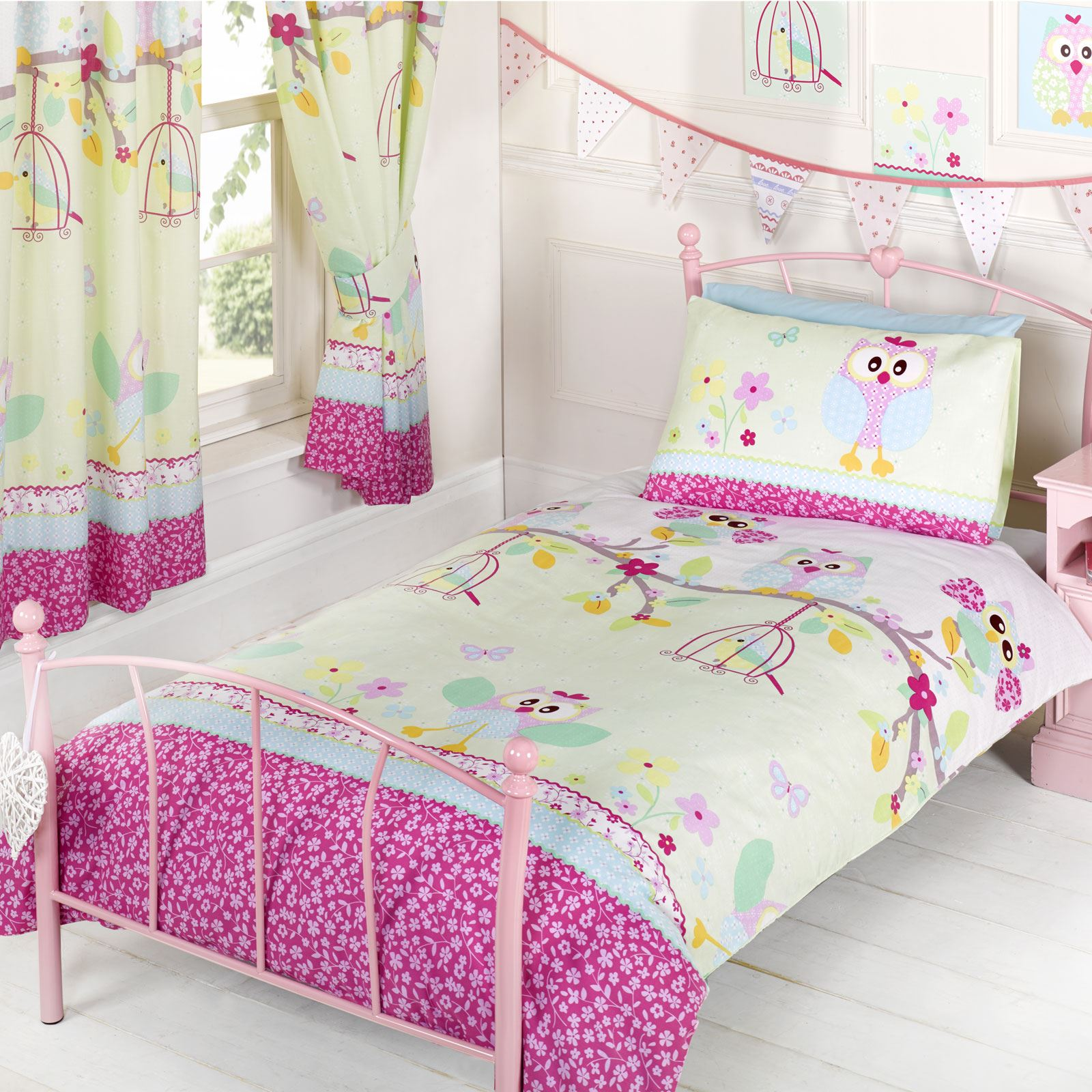 Sleigh Bedroom Sets King Bedroom Jpg Simple Bedroom Colour Design Bedroom Accessories Uk: OWLS 'TWIT TWOO' SINGLE DUVET COVER SET NEW GIRLS BEDDING