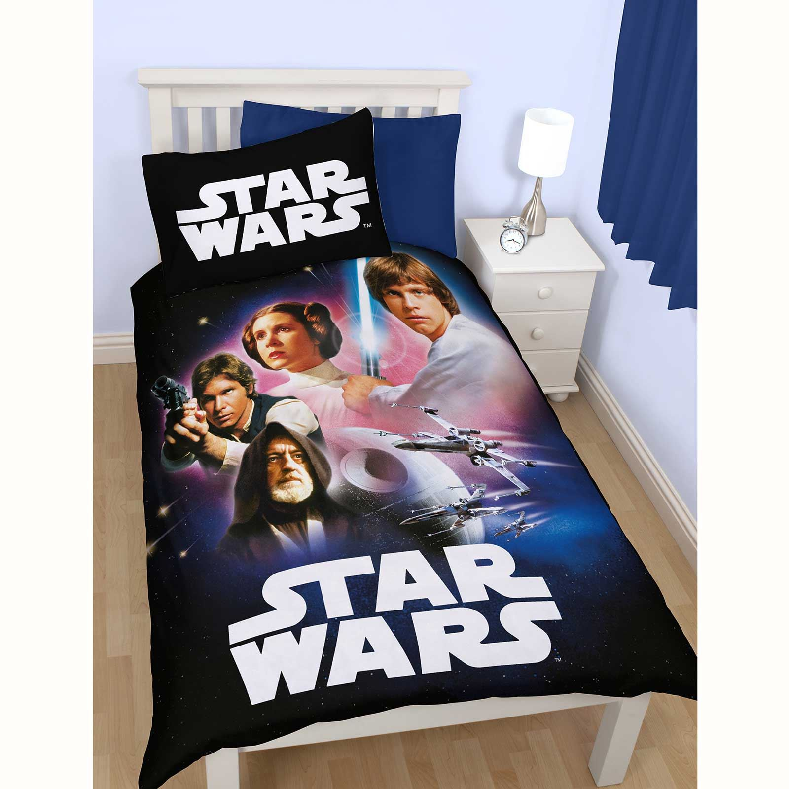 housse de couette star wars parure de lit chambre coucher neuf et officiel ebay. Black Bedroom Furniture Sets. Home Design Ideas