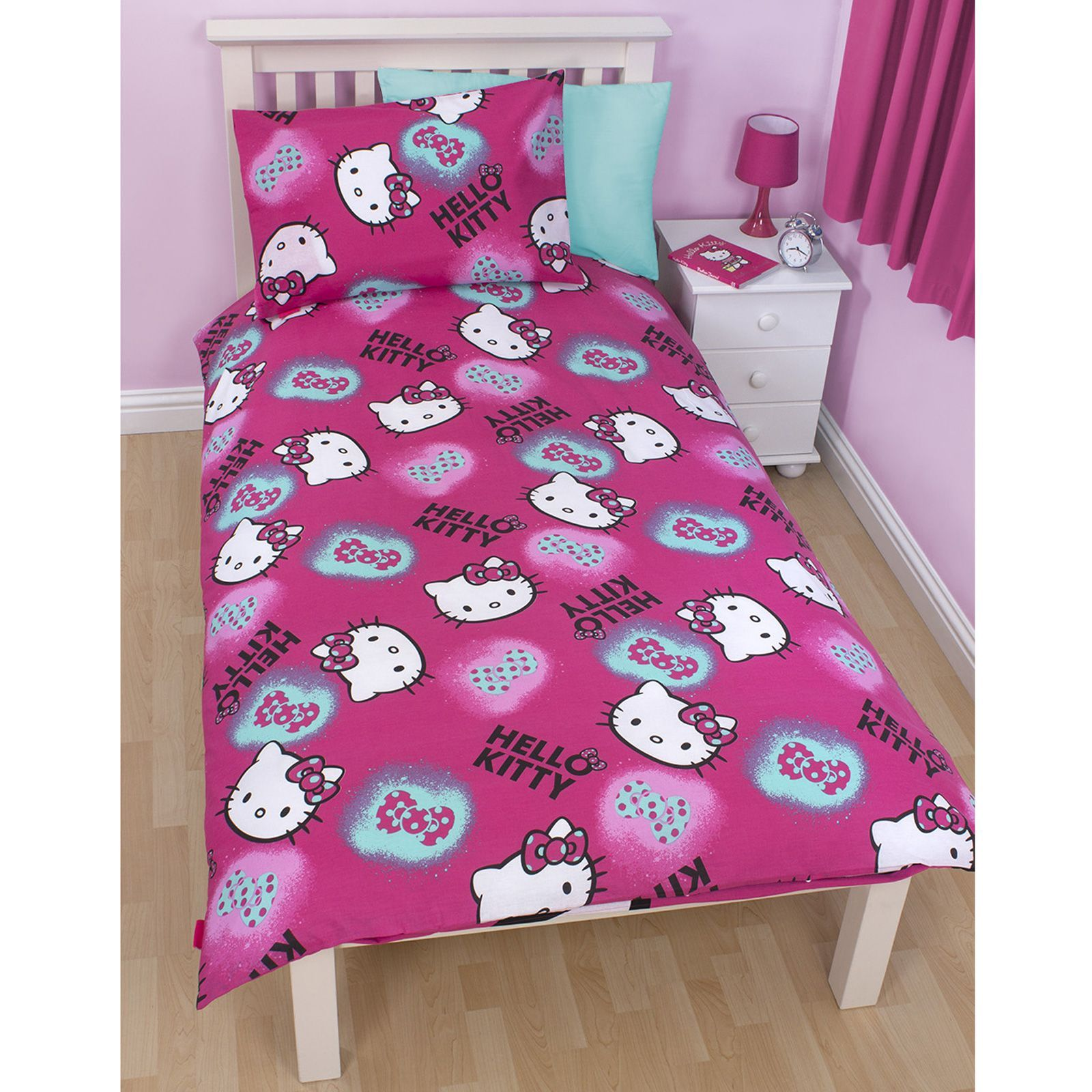 hello kitty ink matching bedding and bedroom accessories childrens new