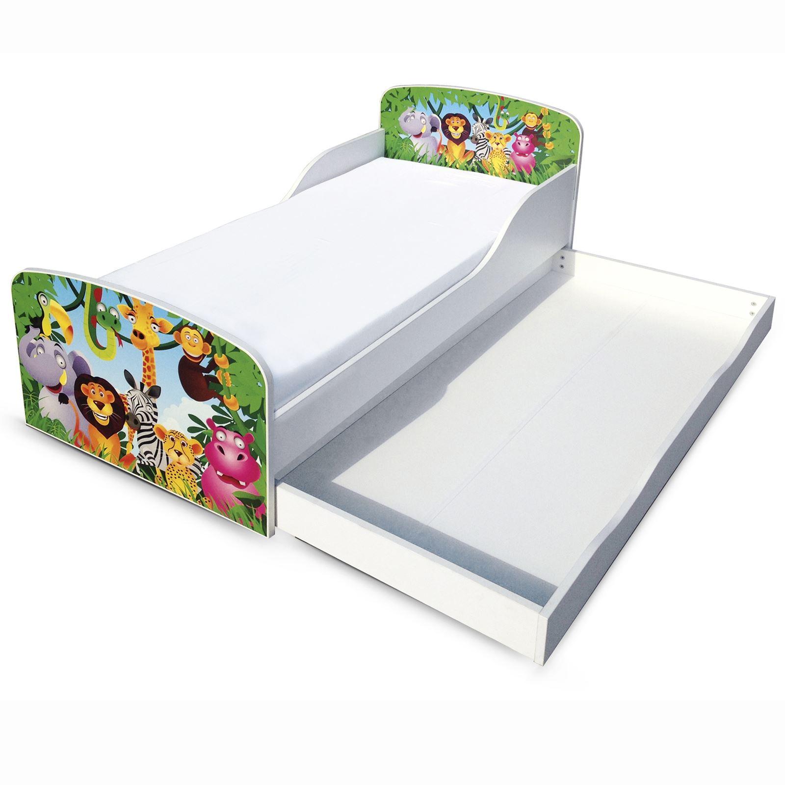 dschungel mdf kleinkind bett mit unterbett aufbewahrung. Black Bedroom Furniture Sets. Home Design Ideas