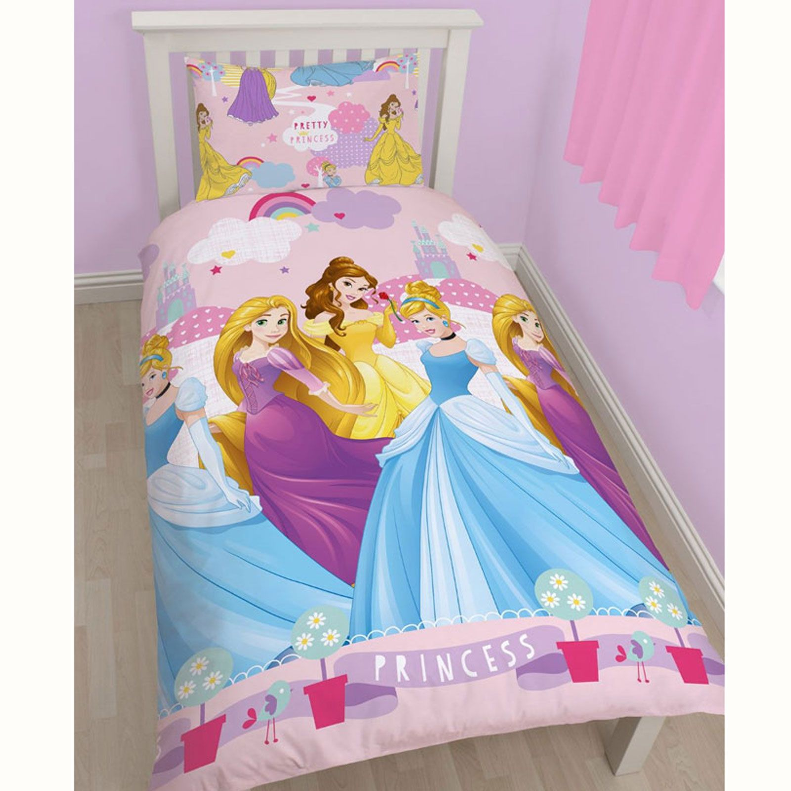 Disney Princess Twin Dolls With Blankets Cinderella Snow: DISNEY PRINCESS DUVET COVER BEDDING SETS