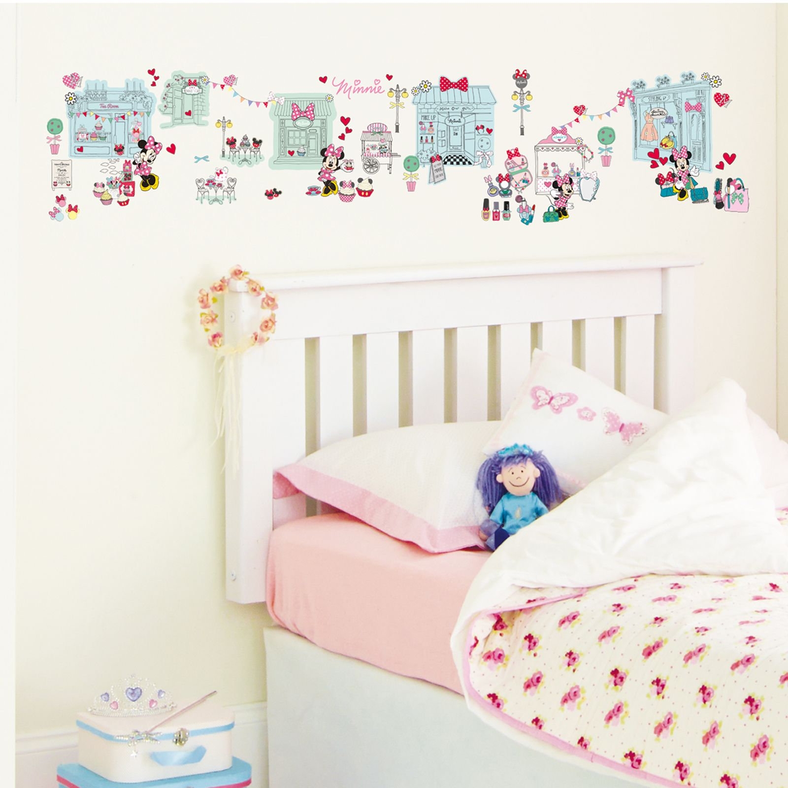 MINNIE MOUSE 39 STICK A STORY 39 100 WALL STICKERS BEDROOM DECOR EBay