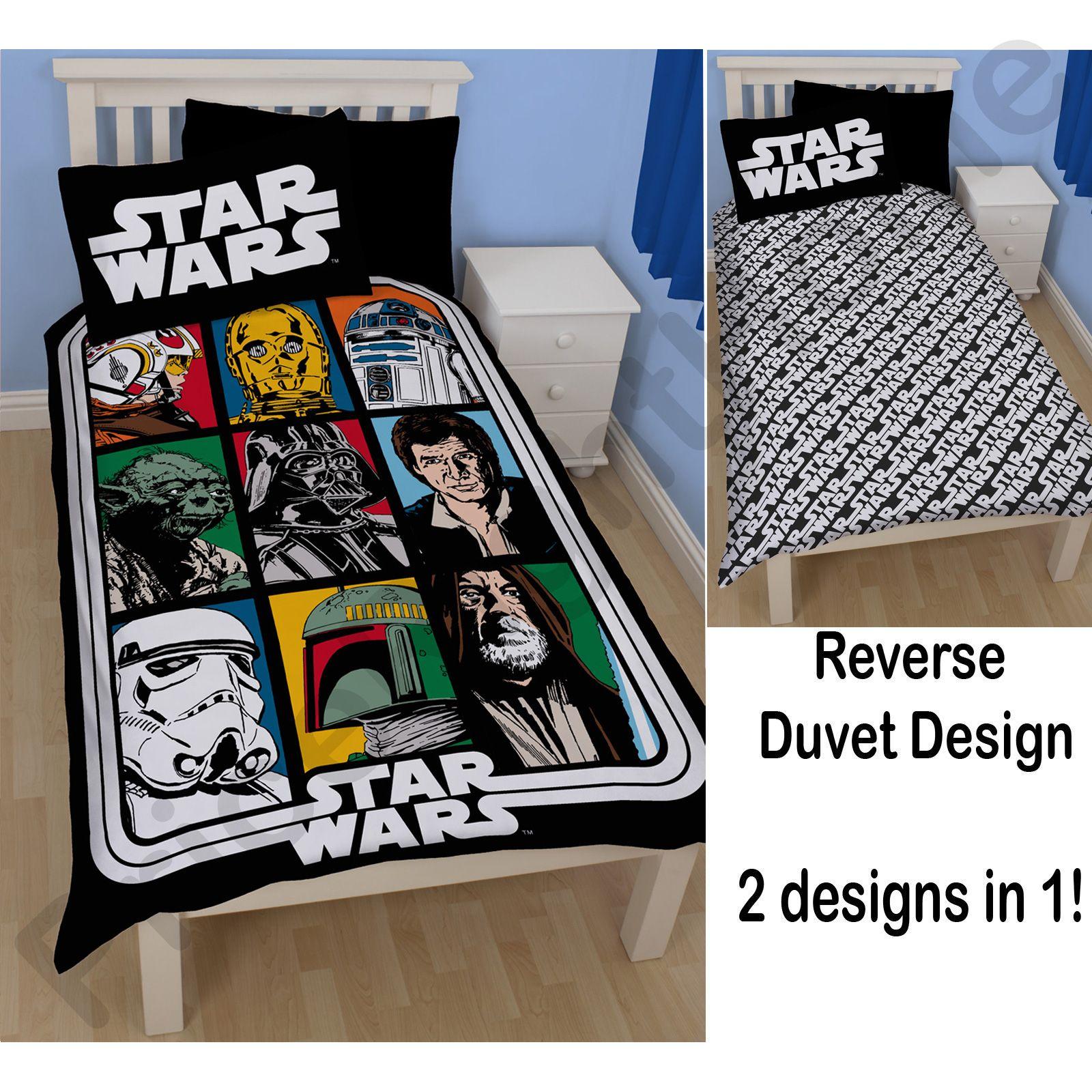 housse de couette star wars parure de lit chambre coucher neuf et officiel ebay. Black Bedroom Furniture Sets. Home Design Ideas