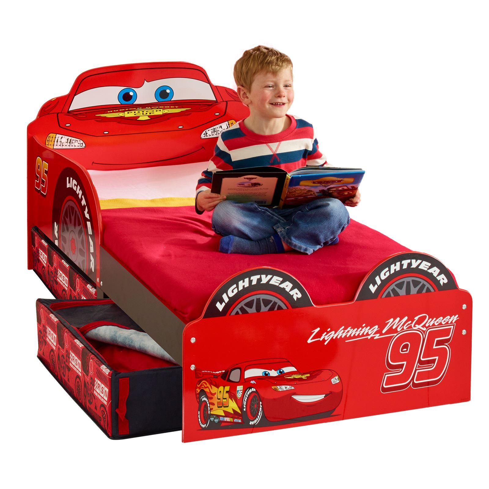 disney cars lightning mcqueen mdf toddler bed with storage bedroom