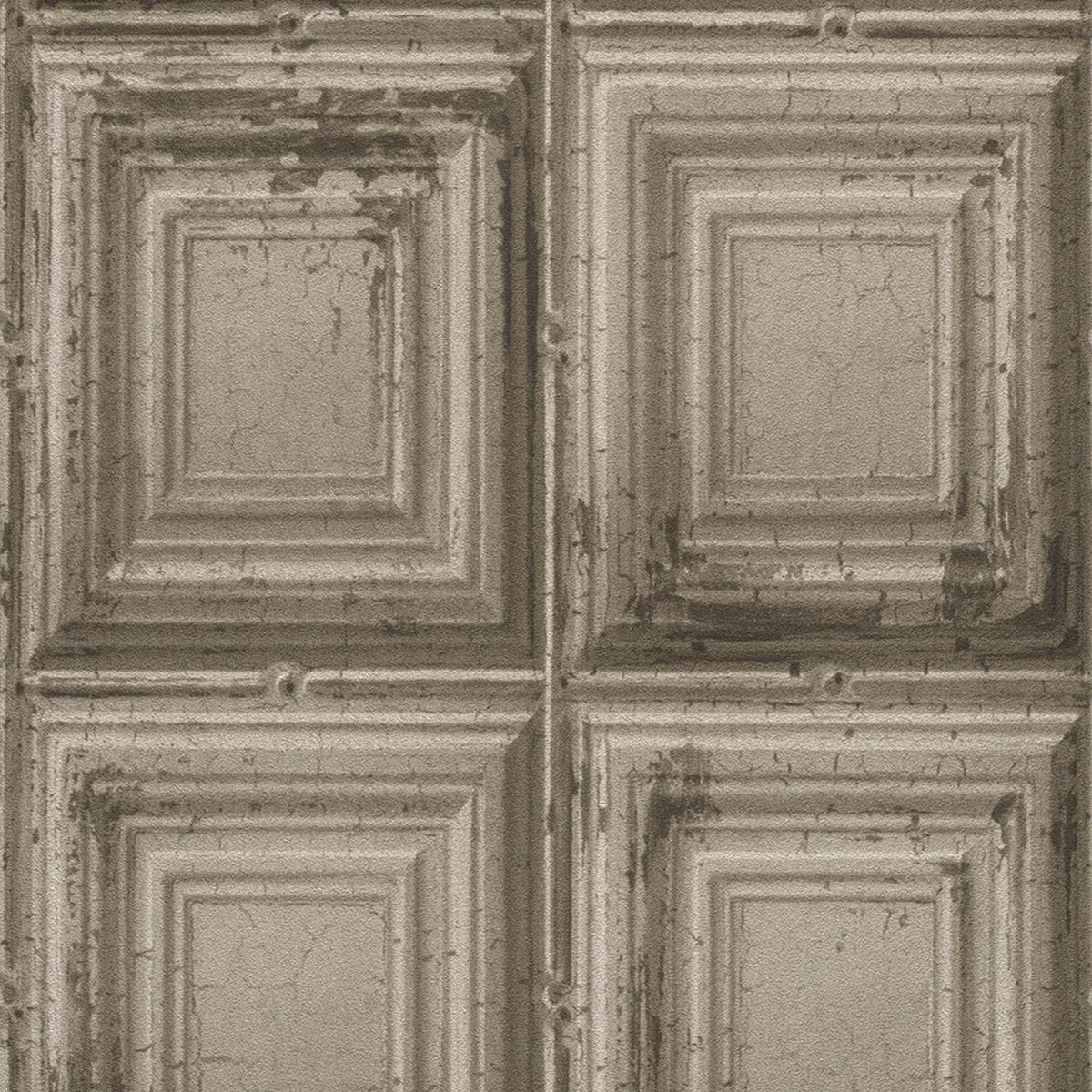 Distressed wood panel wallpaper rasch 932607 grey ebay for Panel wallpaper
