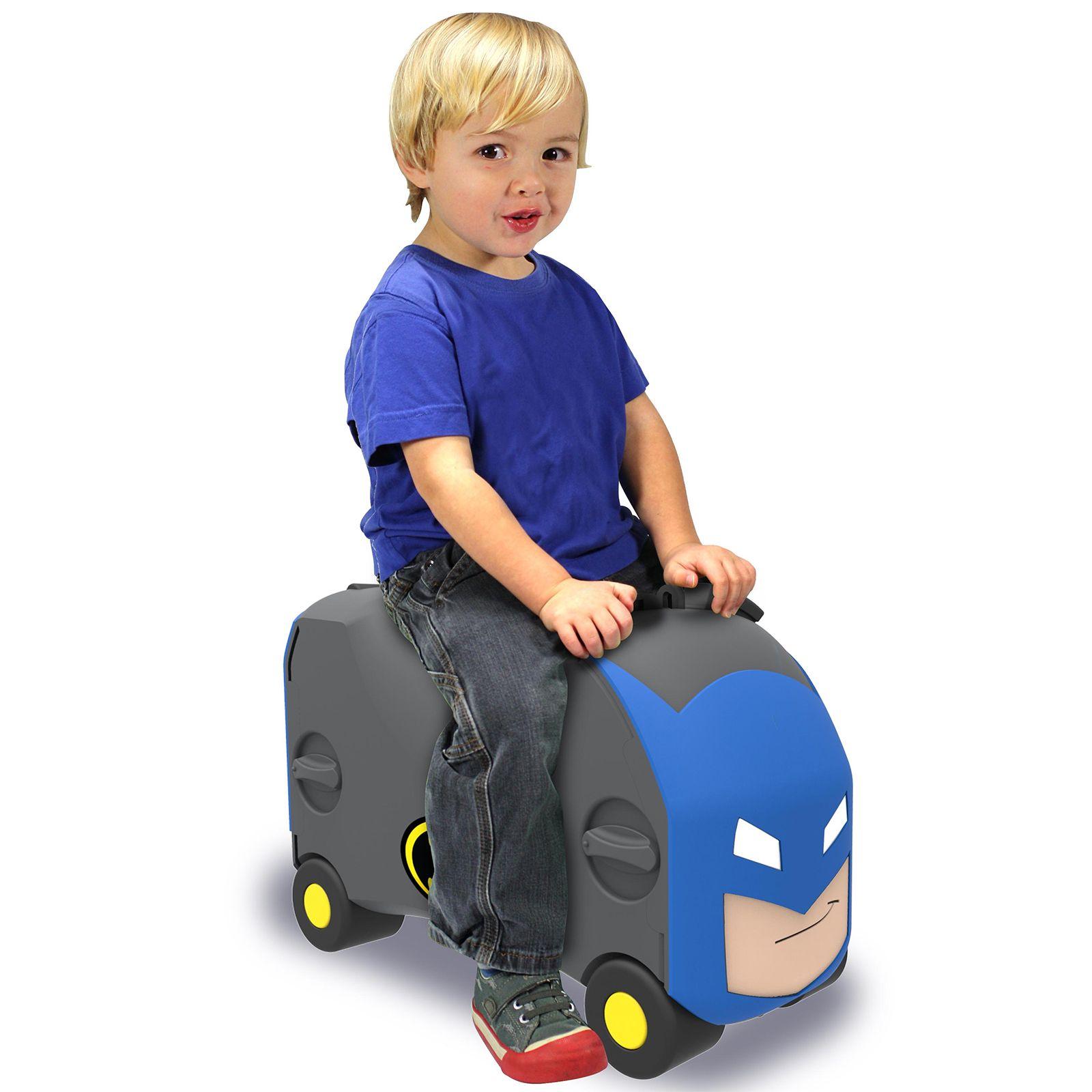 Vrum 3 In 1 Kids Suitcase Toy Box Amp Ride On Batman