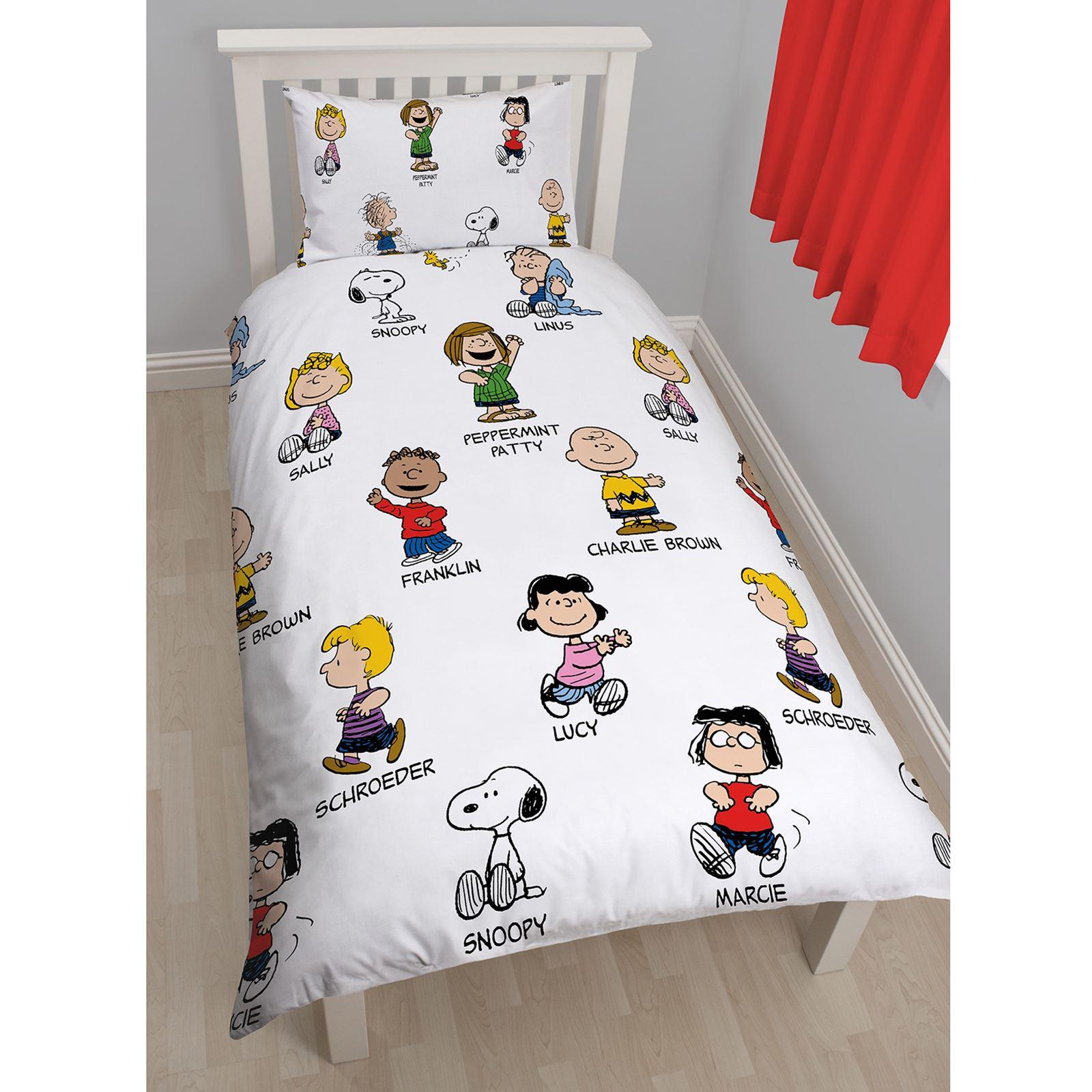 Peanuts Snoopy Single Duvet Cover Set New Charlie Brown Ebay