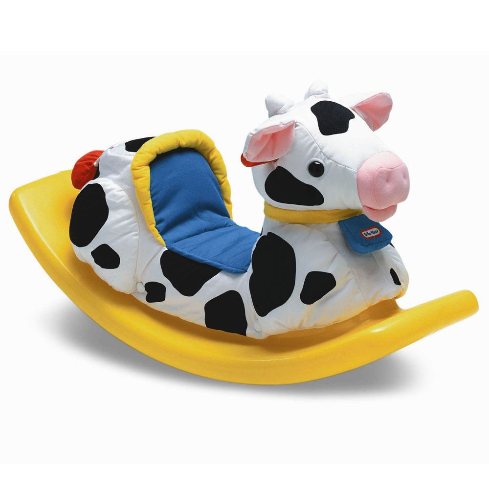 Rocking Toys For Boys : Soft rocking cow new little tikes ride on baby toddler toy