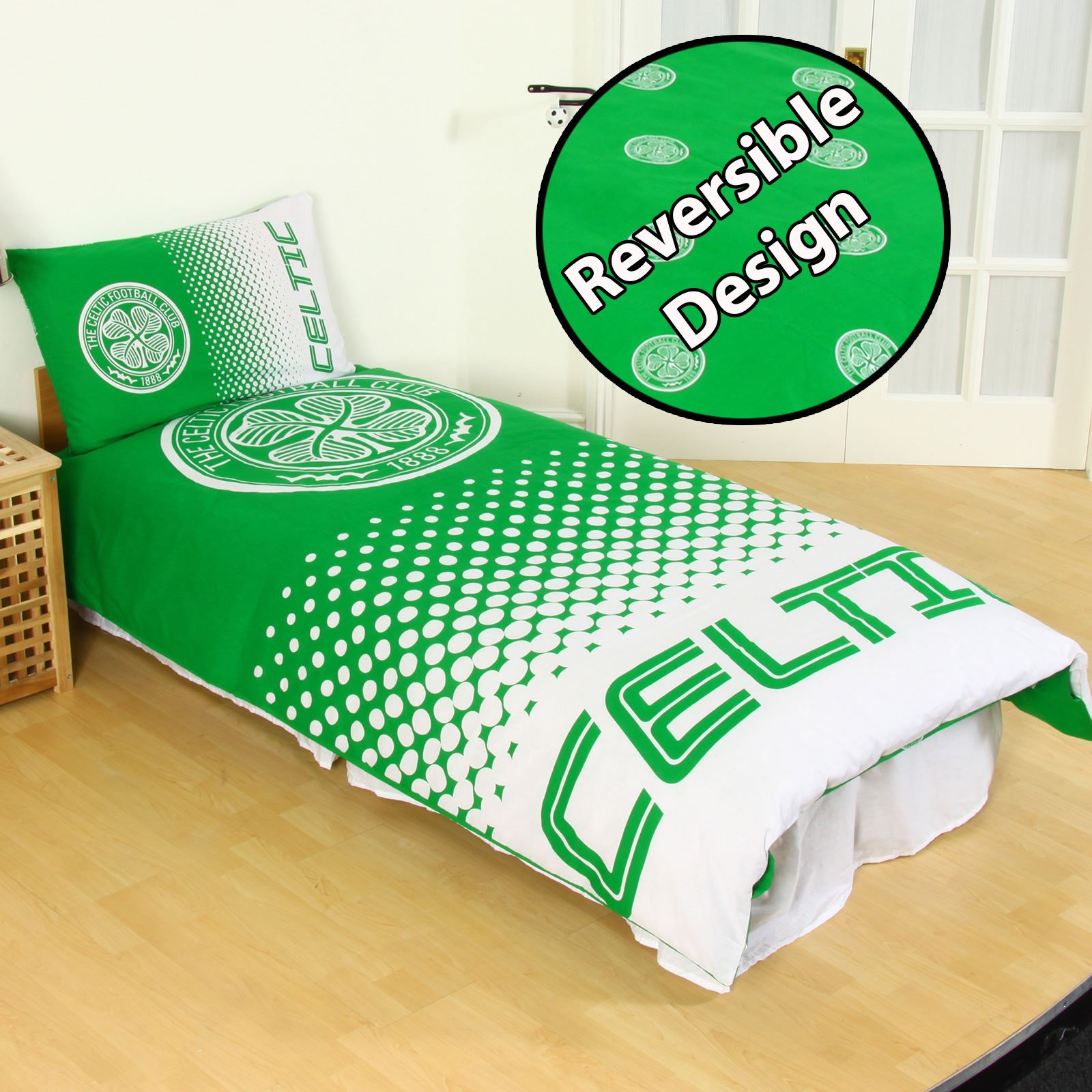 New Trendy Baby Fullmoon Gift Pack : Glasgow celtic fc single duvet cover set new official
