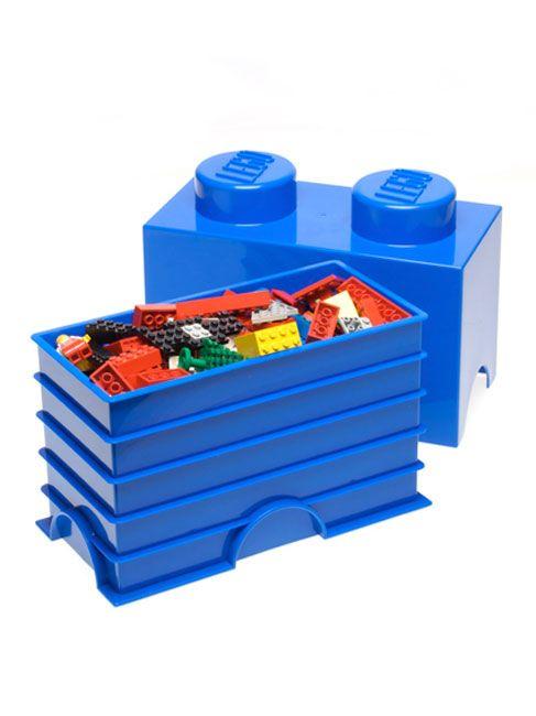 Lego immagazzinamento mattone 2 blu bambini sala giochi for Lego arredamento