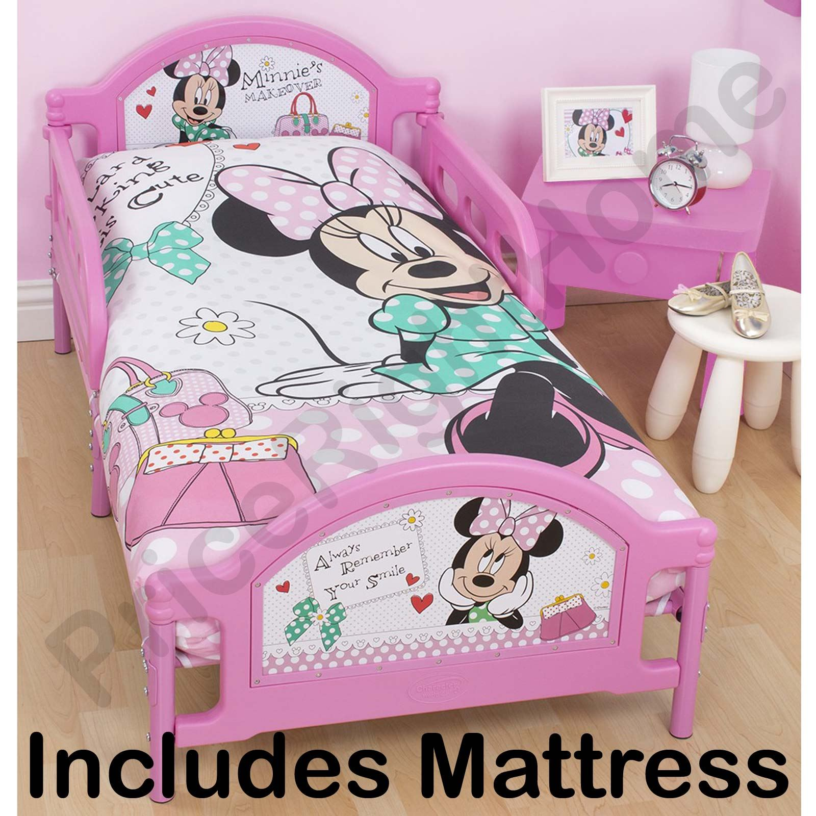 minnie mouse kleinkind bett schaum matratze neu ebay. Black Bedroom Furniture Sets. Home Design Ideas