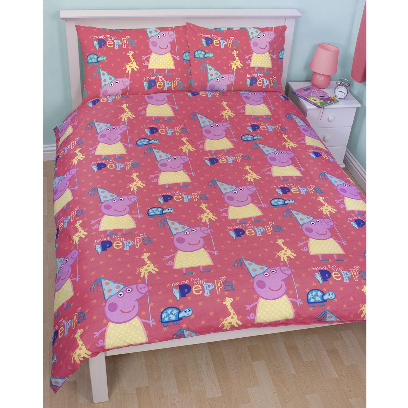 Peppa Pig Funfair Bedroom Range Doona Covers Junior