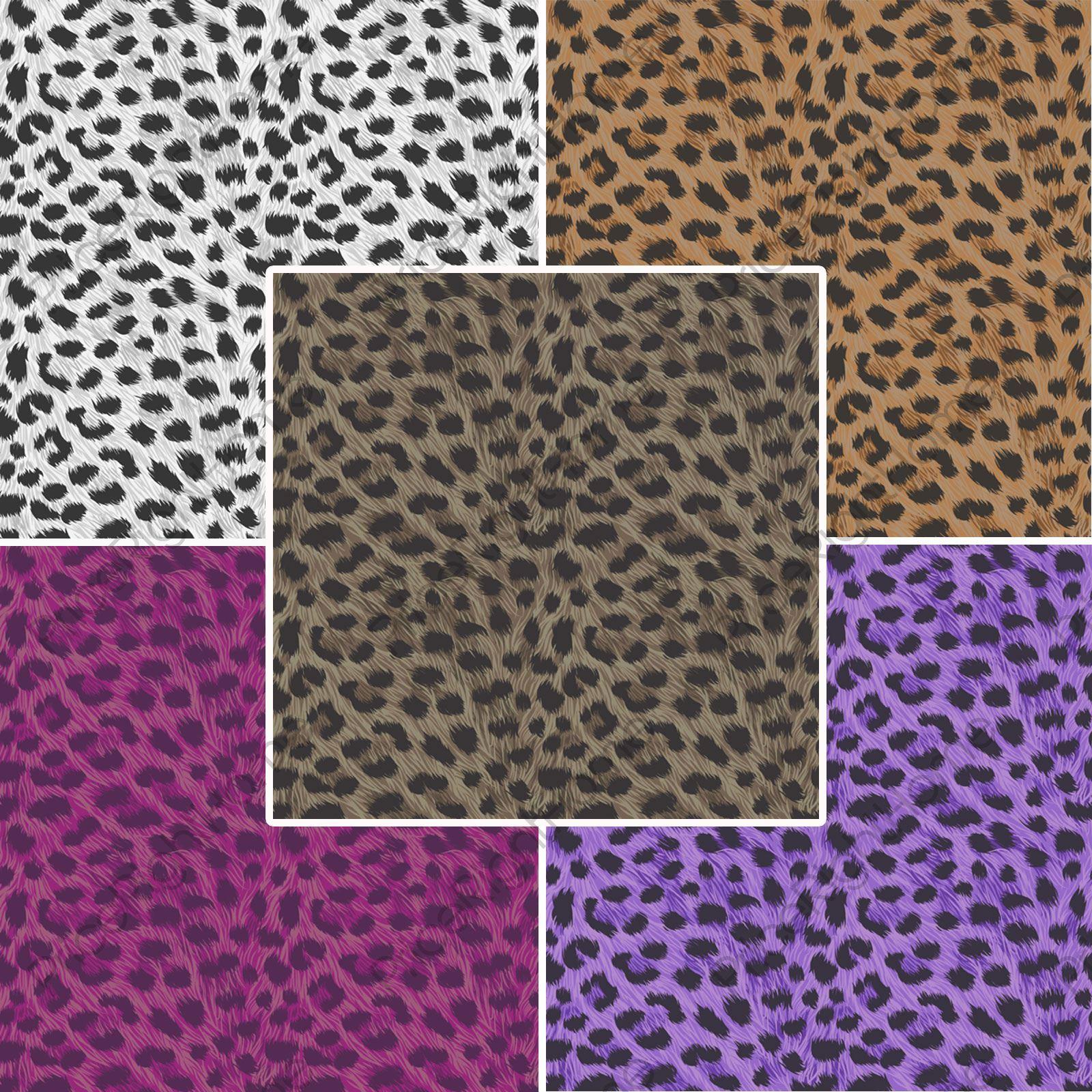 leoparden druck tapete tier aufdruck wandtapete lila golden brown white ebay. Black Bedroom Furniture Sets. Home Design Ideas