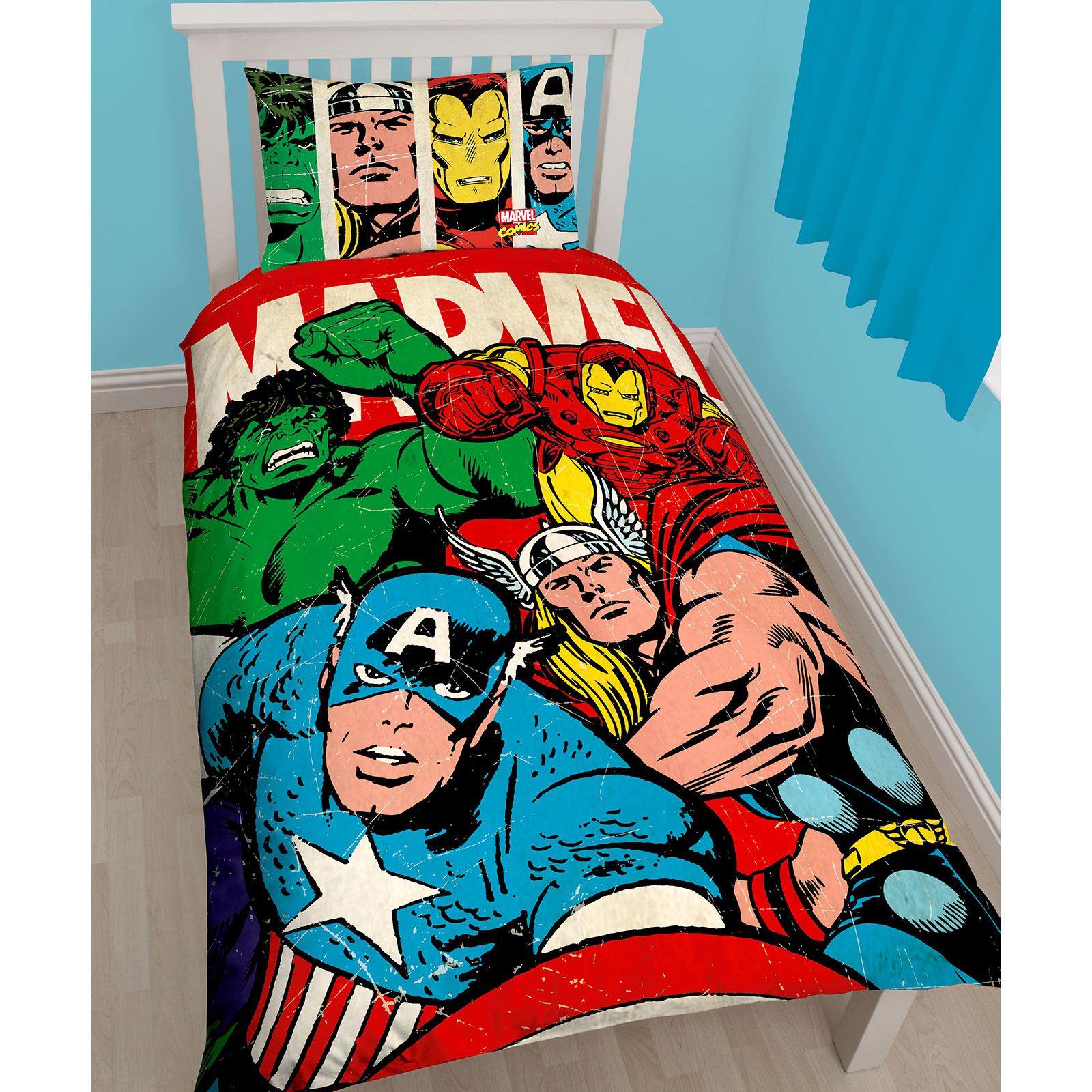 Marvel Comics Strike Single Duvet Cover Set Captain