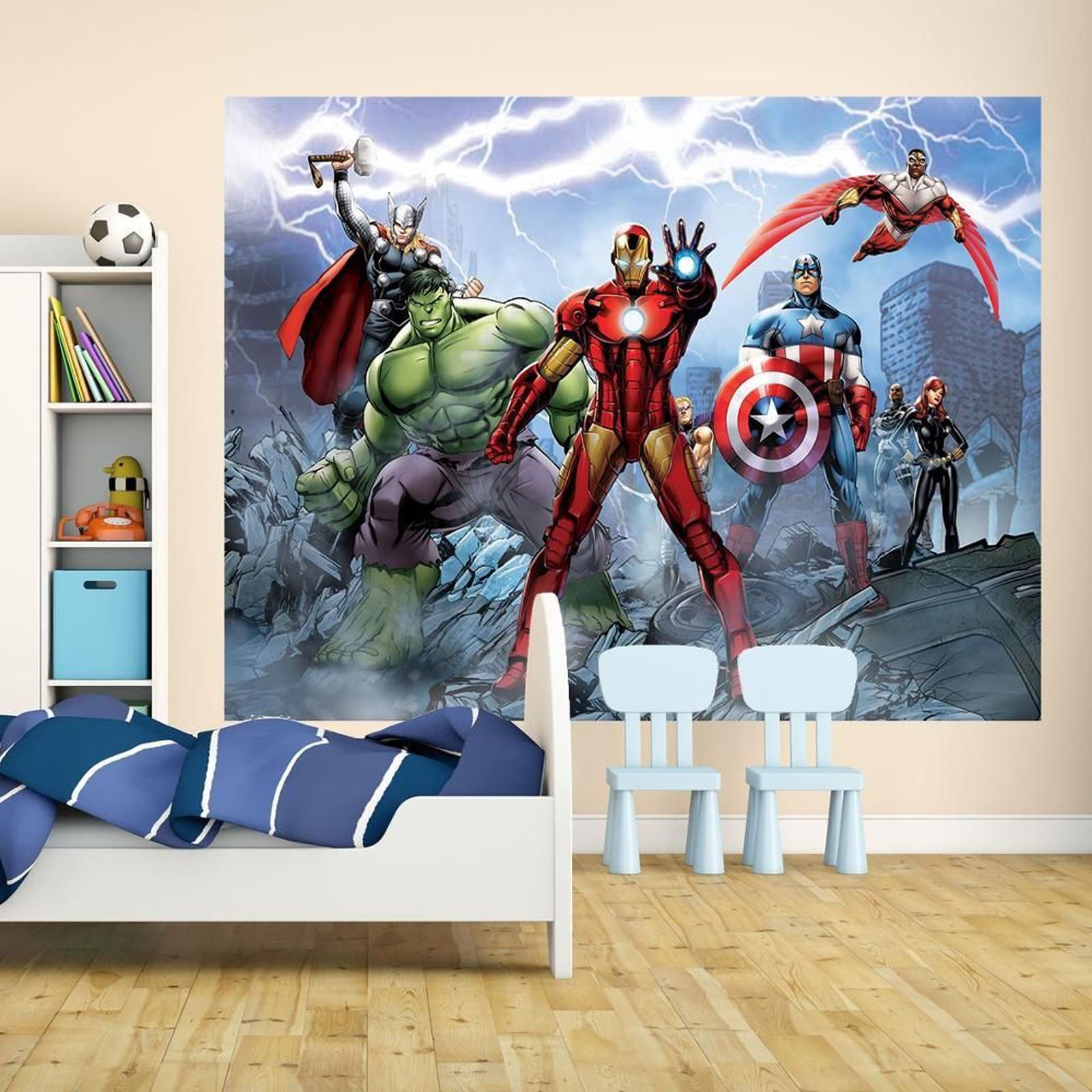 Marvel comics and avengers wallpaper wall murals d cor for Avengers wallpaper mural