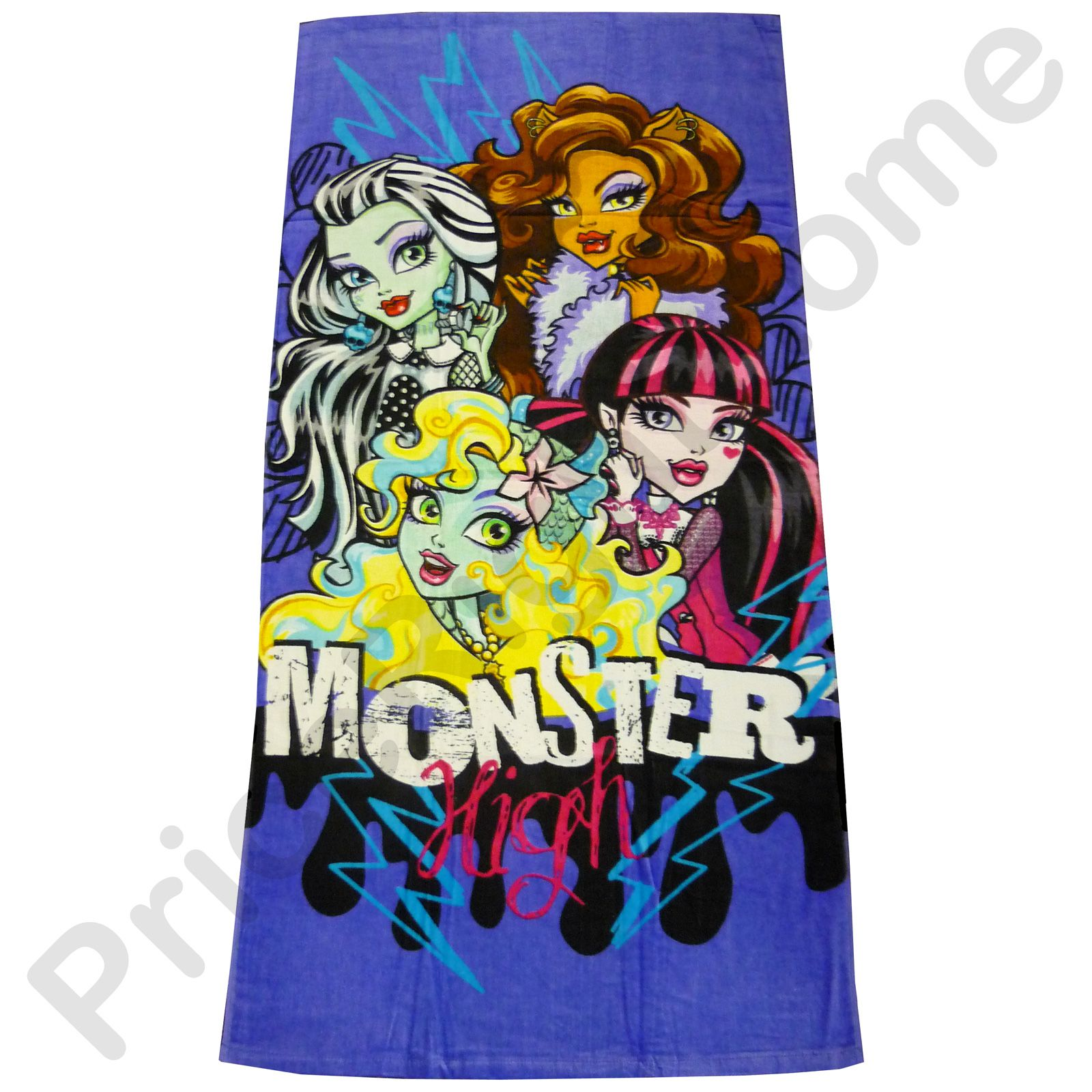 Beach Blanket Amazon Uk: MONSTER HIGH TOWELS & FACE CLOTHES KIDS BATH BEACH TOWEL