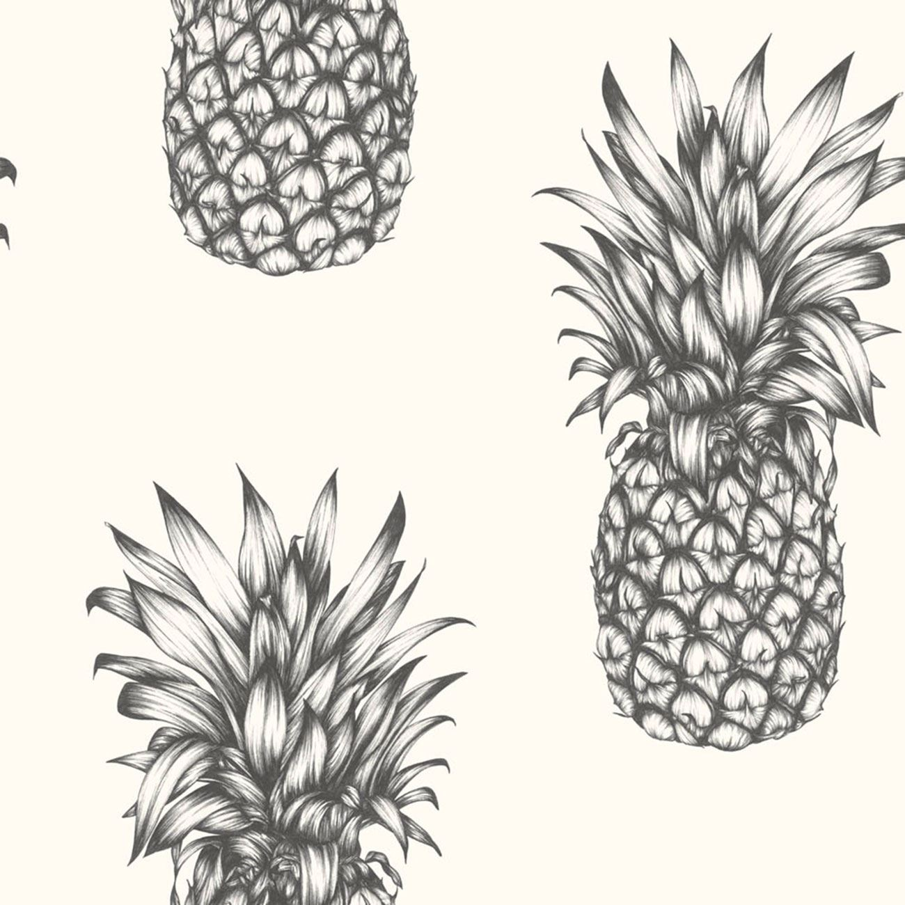 arthouse tropics copacabana ananas papier peint dor noir blanc aspect mur ebay. Black Bedroom Furniture Sets. Home Design Ideas