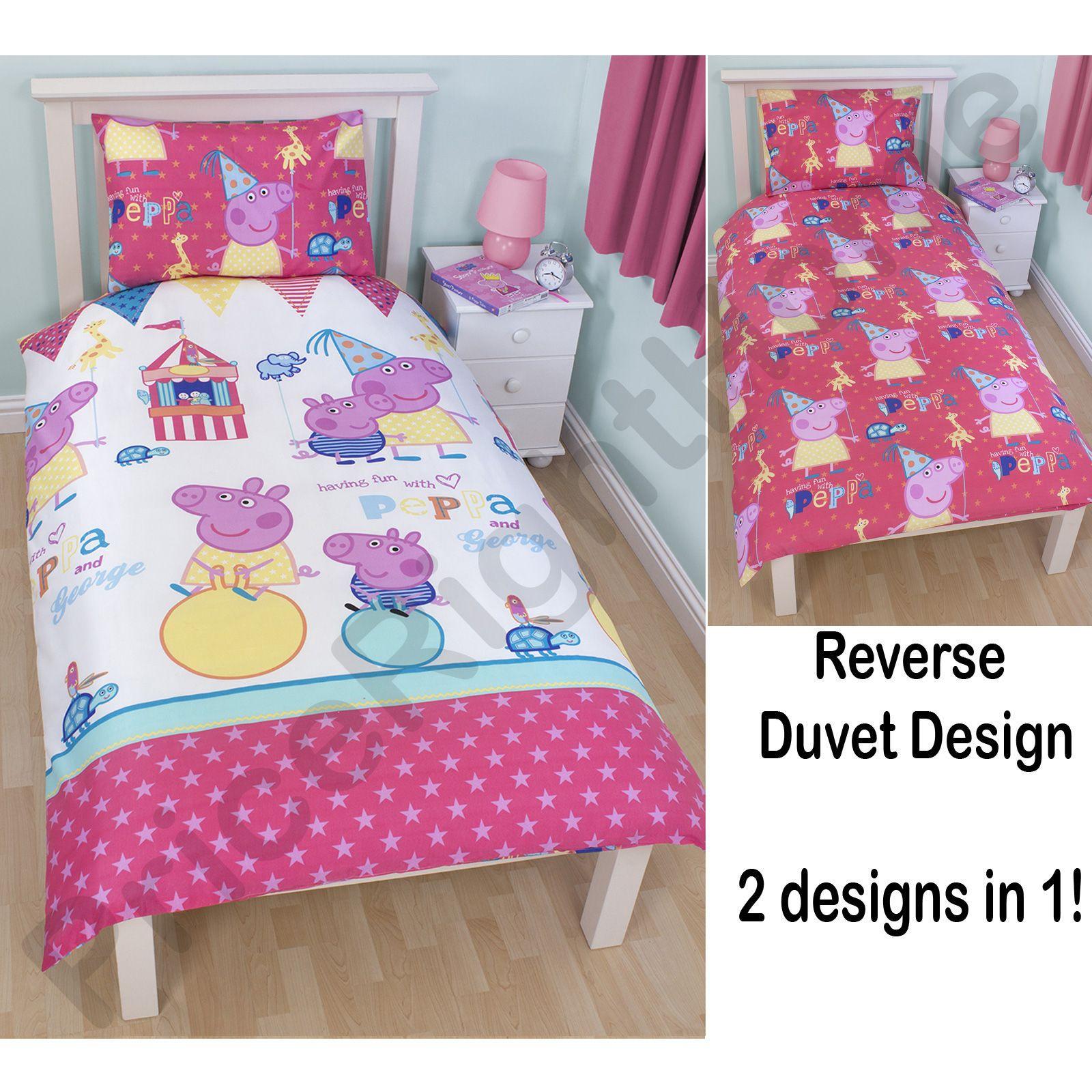 Peppa Pig Bedroom Accessories Peppa Pig Funfair Bedroom Range Duvet Covers Junior Bedding