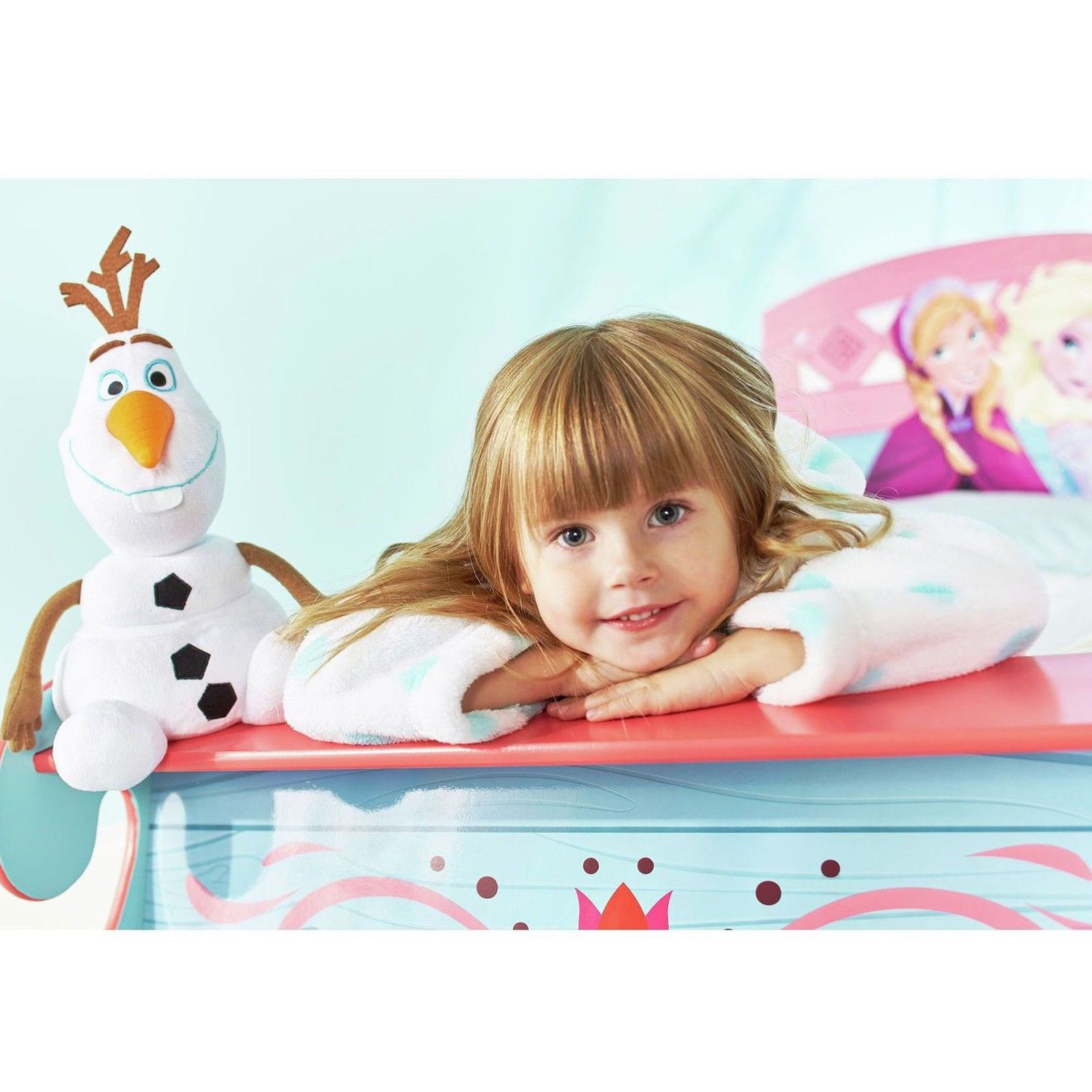 DISNEY FROZEN SLEIGH TODDLER BED WITH STORAGE MATTRESS