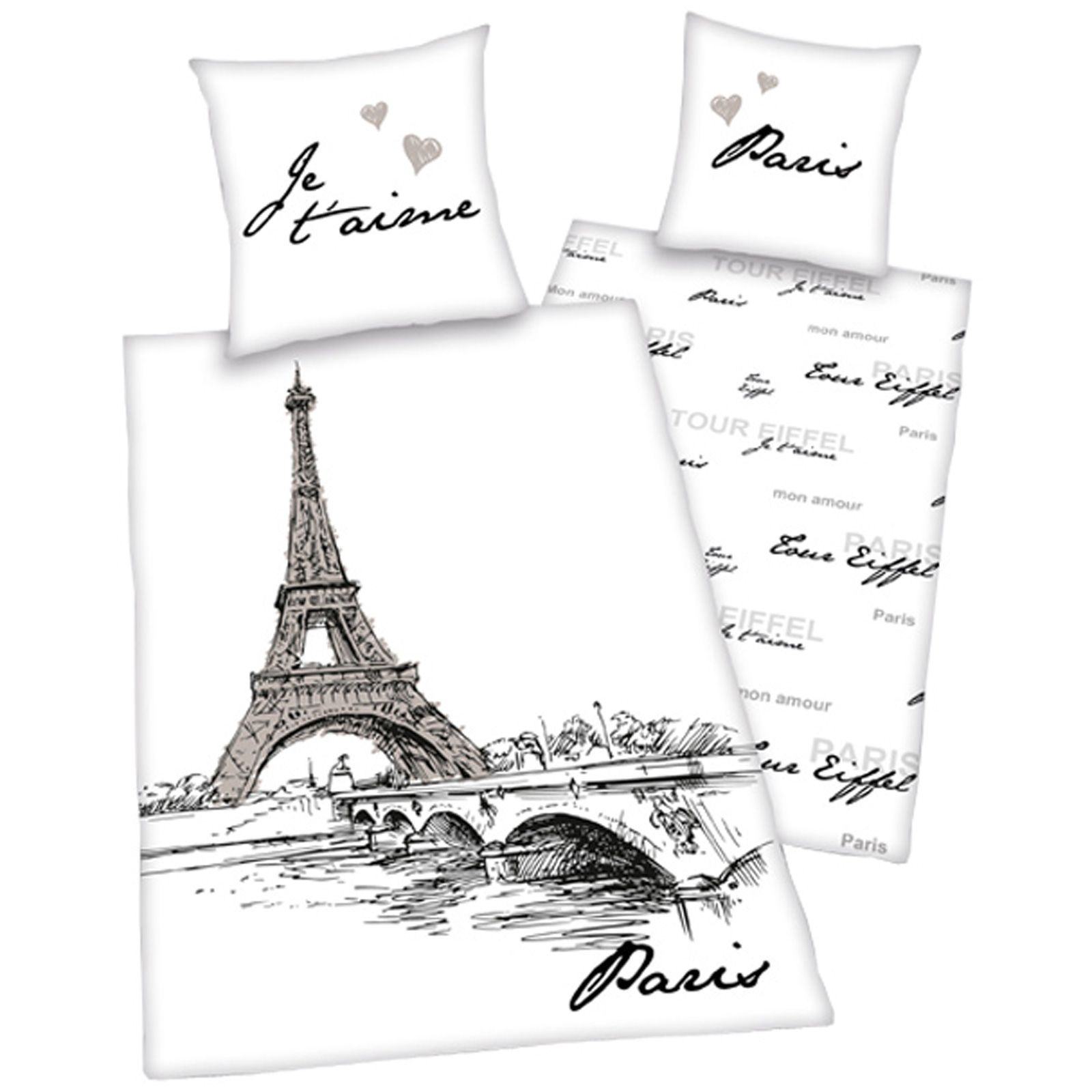 PARIS BEDDING SINGLE DUVET COVER SETS CITY LANDMARKS EIFFEL TOWER BEDROOM