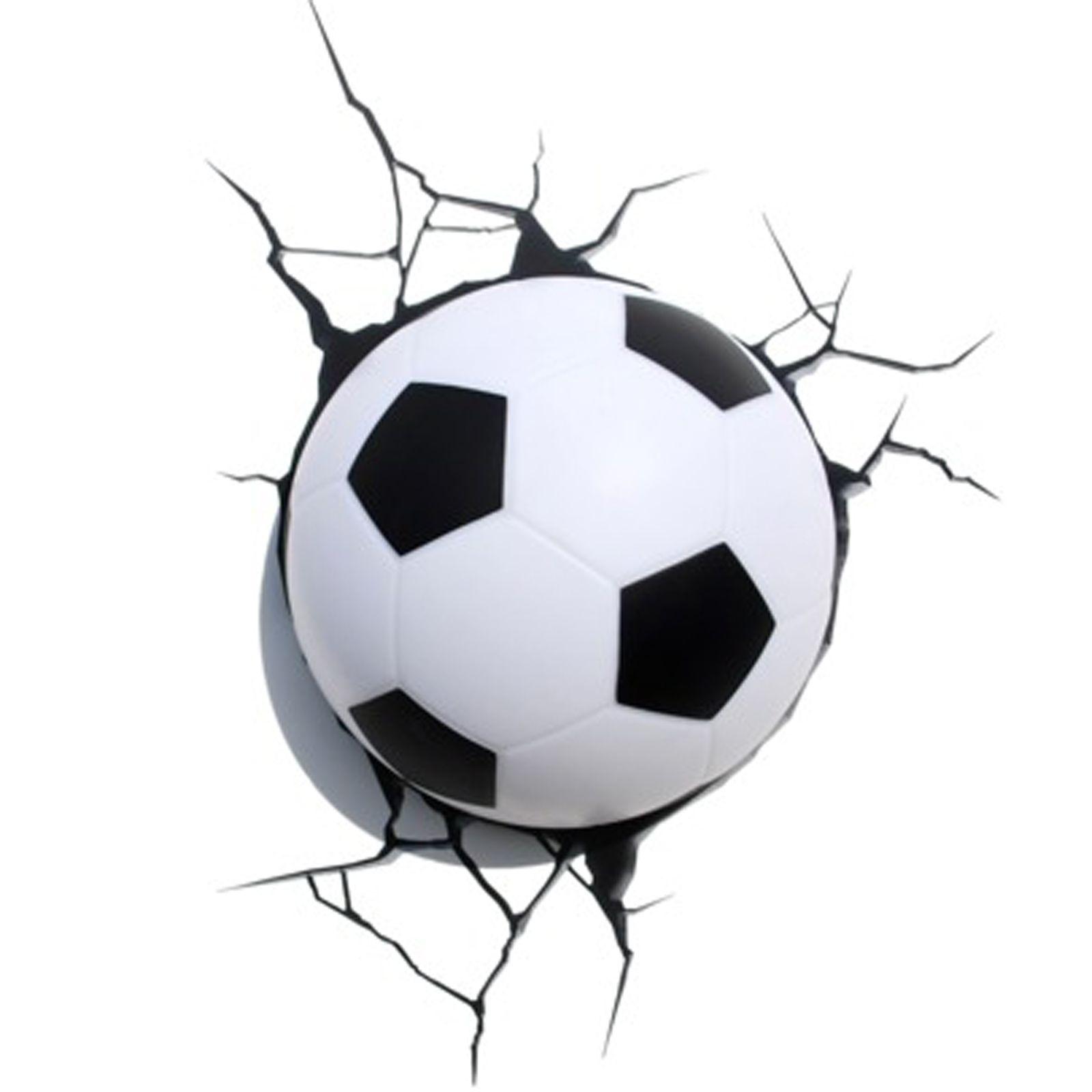 Soccer Ball Lamp Australia: FOOTBALL 3D BEDROOM LIGHT LAMP 3D EFFECT NEW SOCCER LED