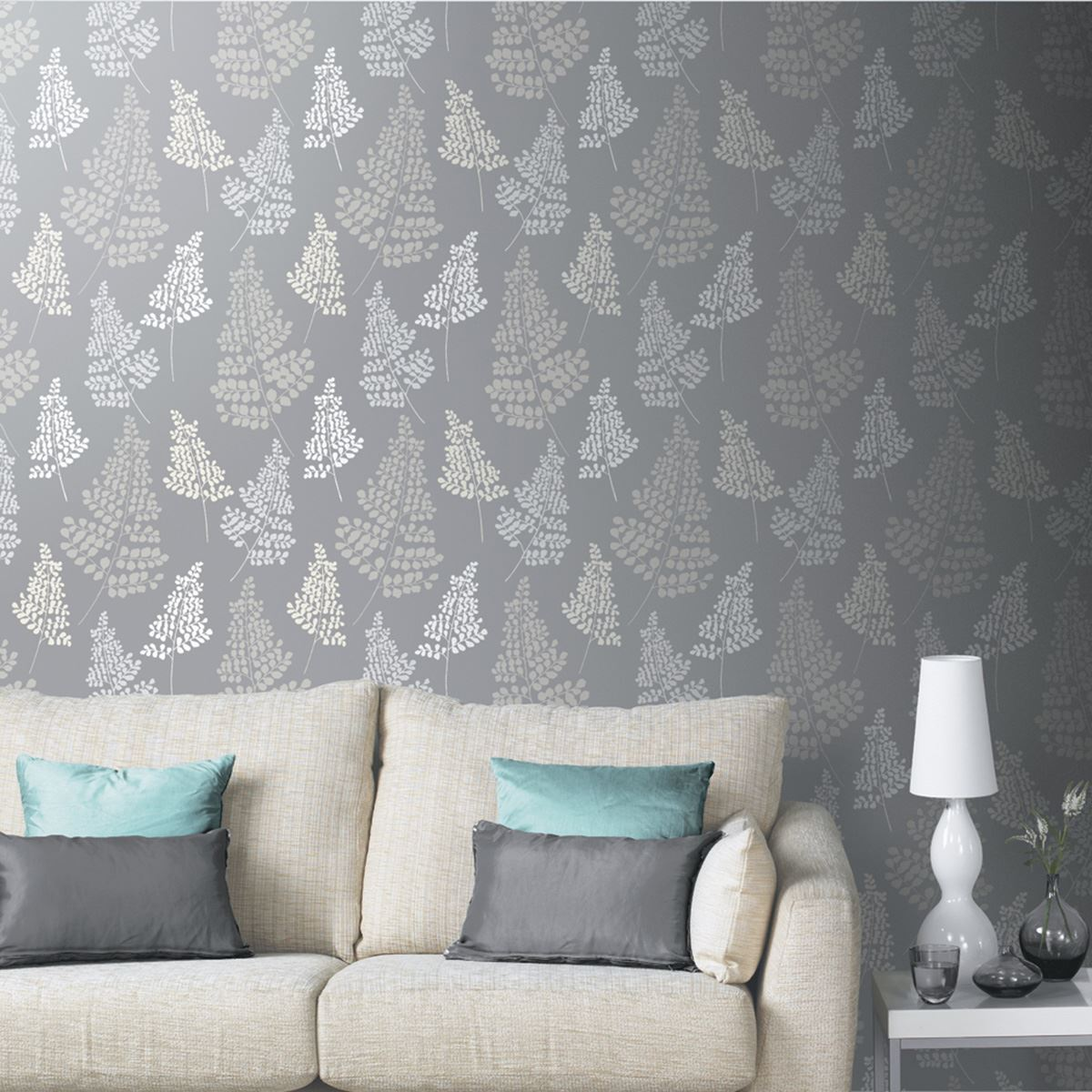 Grey wallpaper patterned designs designs feature wall for New wallpaper ideas