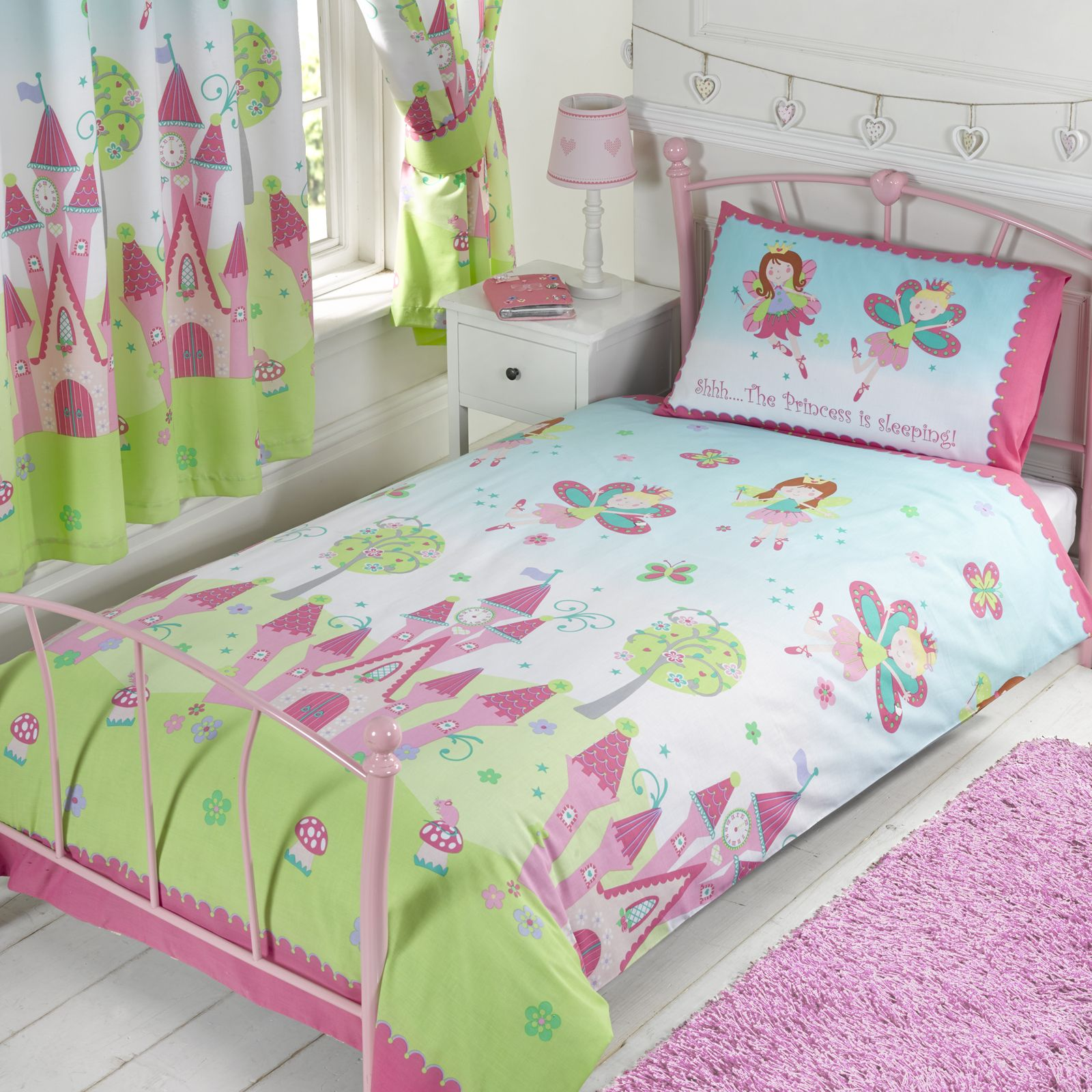 FAIRY PRINCESS 'SLEEPING' SINGLE DUVET COVER SET NEW GIRLS