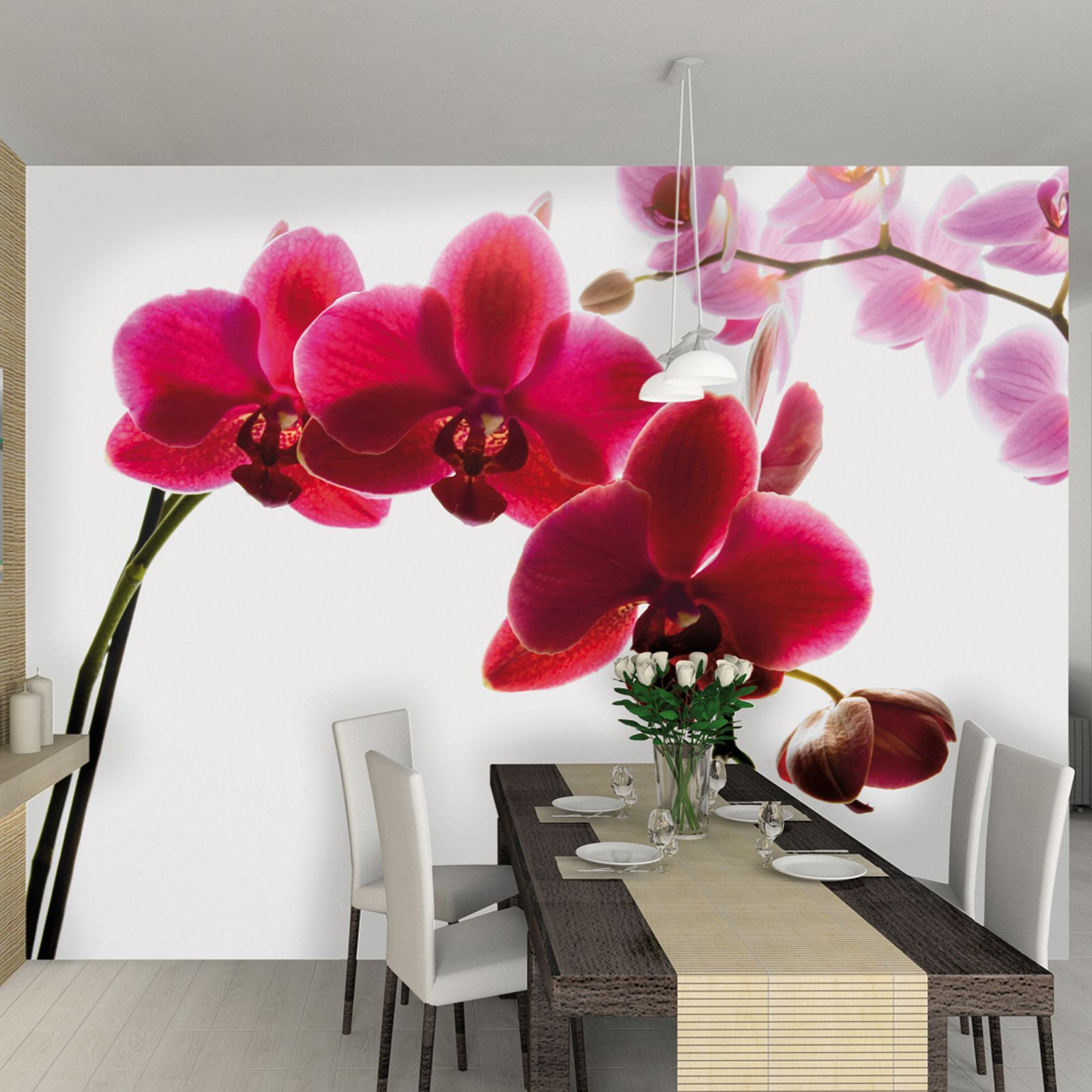 Обои 3д на стену фото цветы орхидеи в