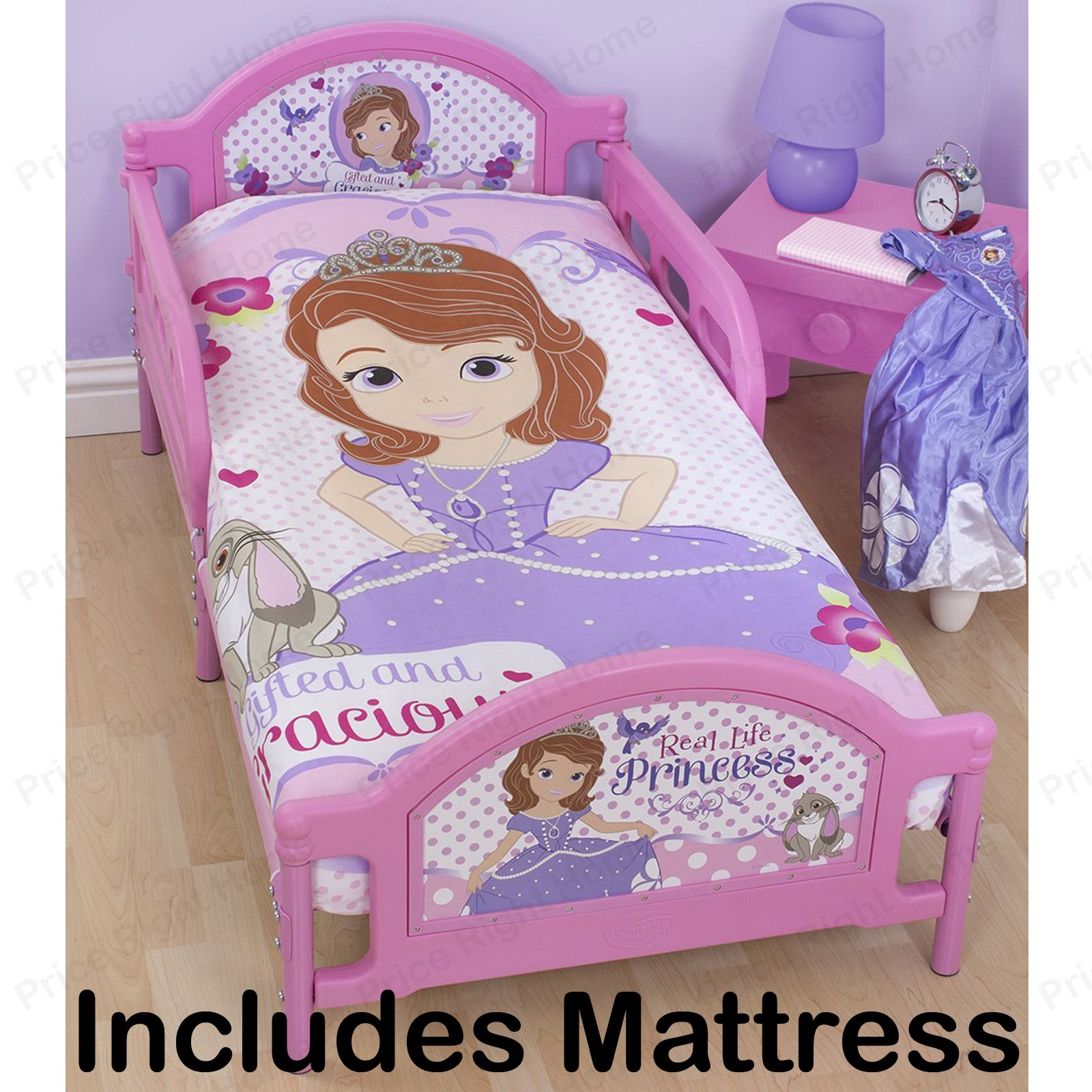 disney sofia das erste kleinkind bett luxus matratze 1 prinzessin ebay. Black Bedroom Furniture Sets. Home Design Ideas