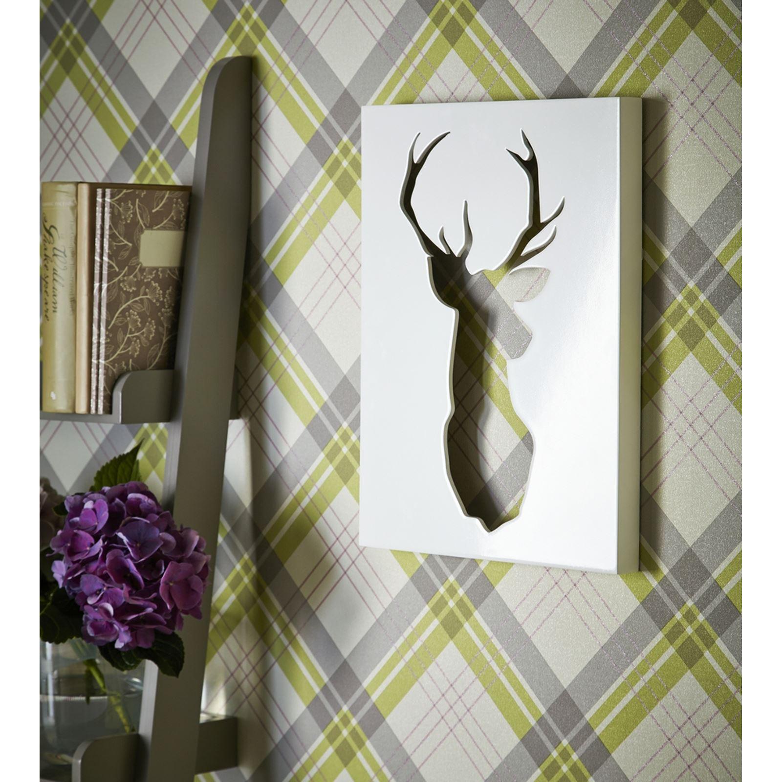Tartan plaid checked wallpaper ideal for feature walls - Imagenes de paredes pintadas ...