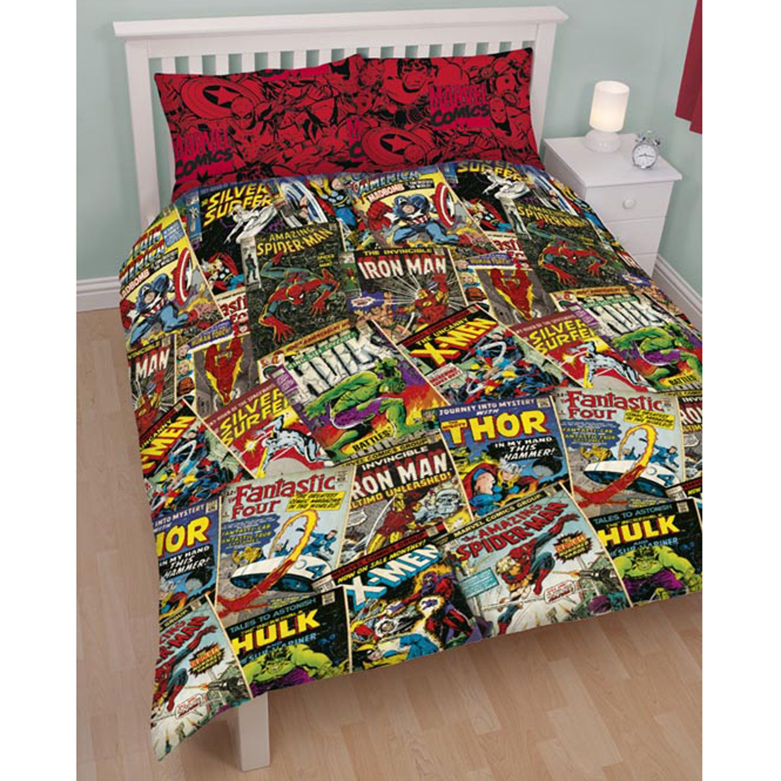 Marvel Comic Book Bedding