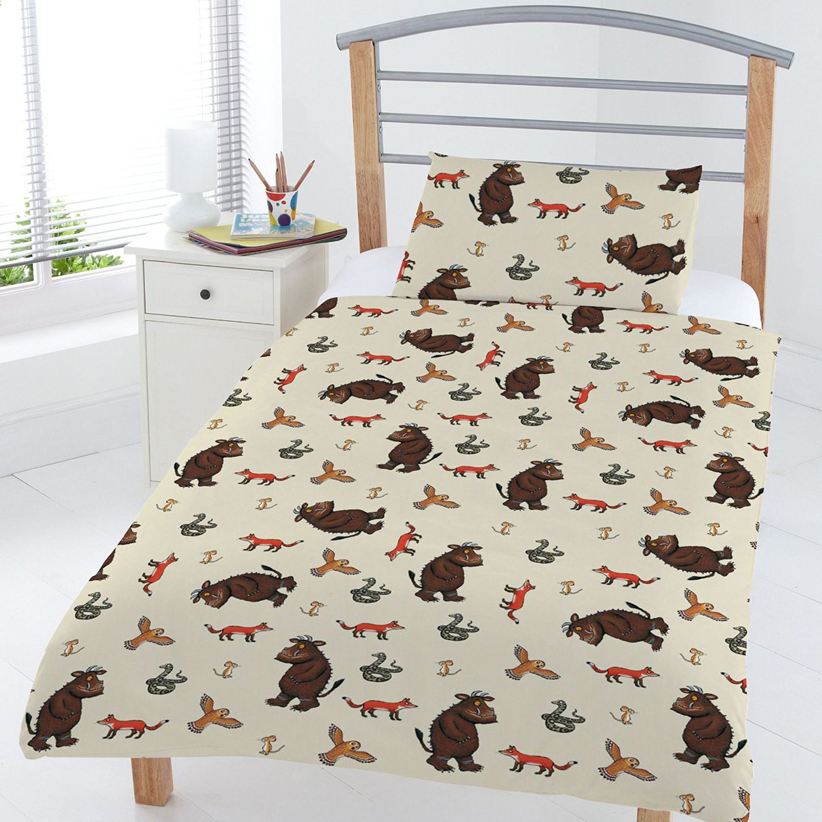 le gruffalo b b enfant junior housse de couette. Black Bedroom Furniture Sets. Home Design Ideas