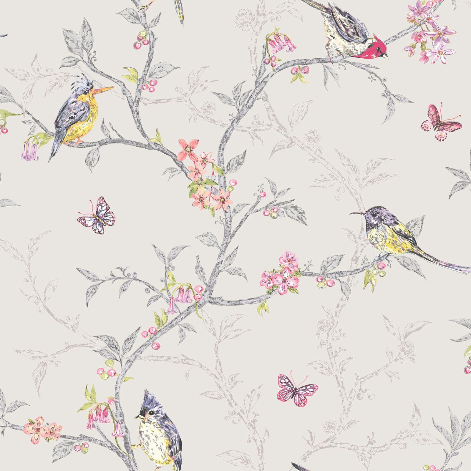 Beautiful Birds Themed Wallpapers In Various Designs Feature Wall Room Decor Ebay