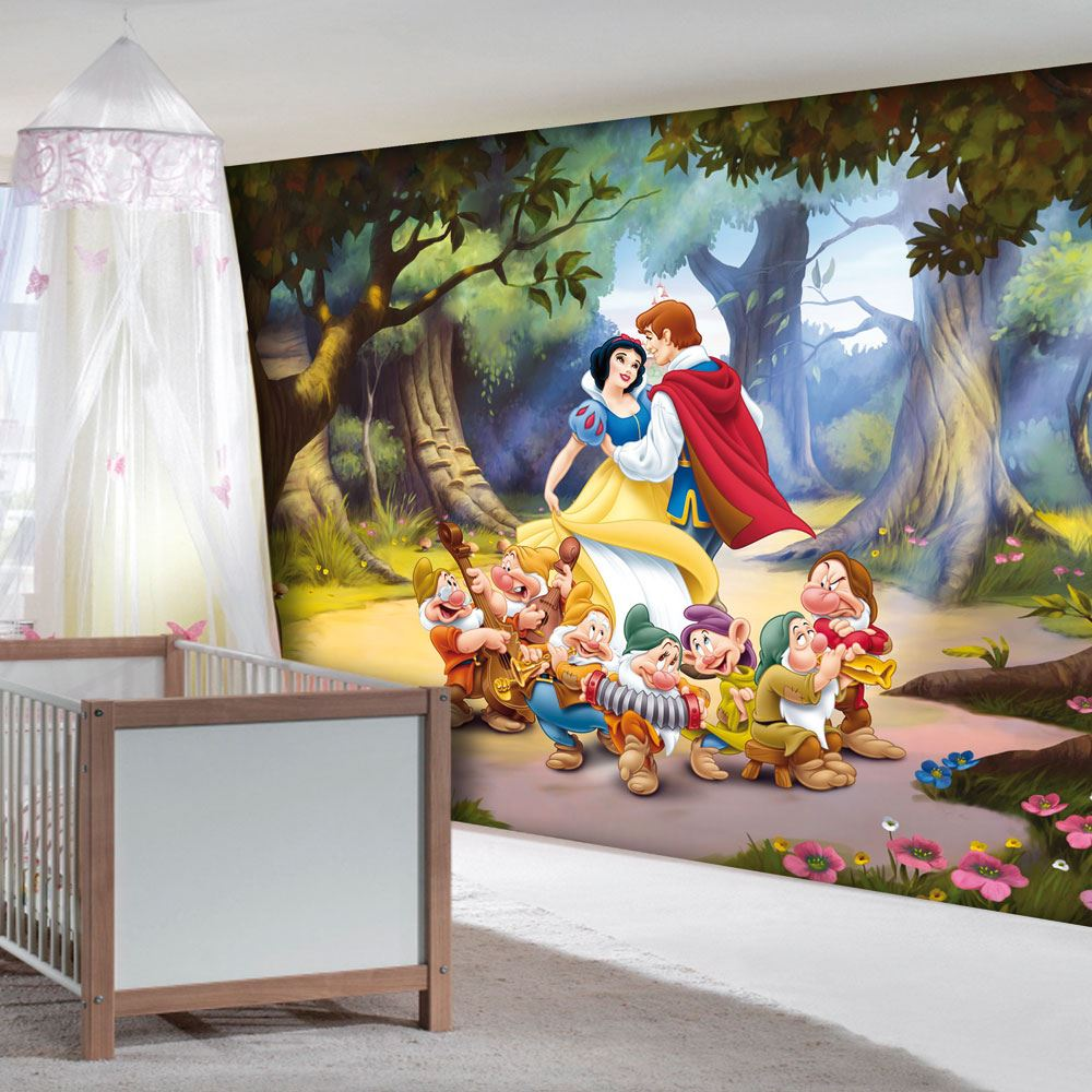 Disney princess frozen wallpaper murals anna elsa for Ariel wall mural