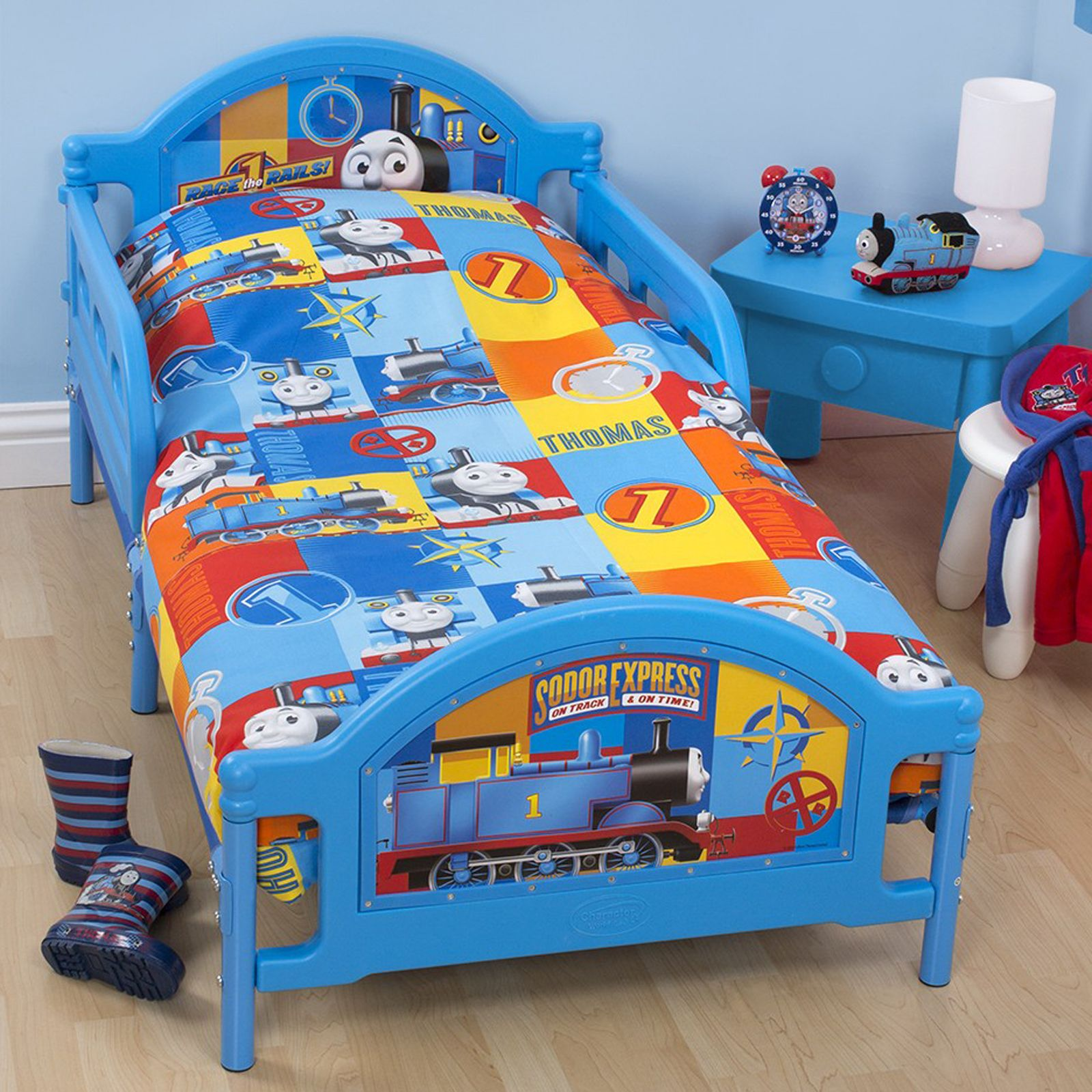 thomas friends power junior cot bed duvet cover new. Black Bedroom Furniture Sets. Home Design Ideas