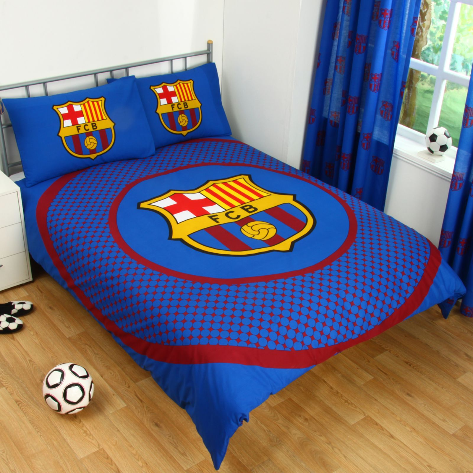 about fc barcelona double duvet cover set new football bedding kids