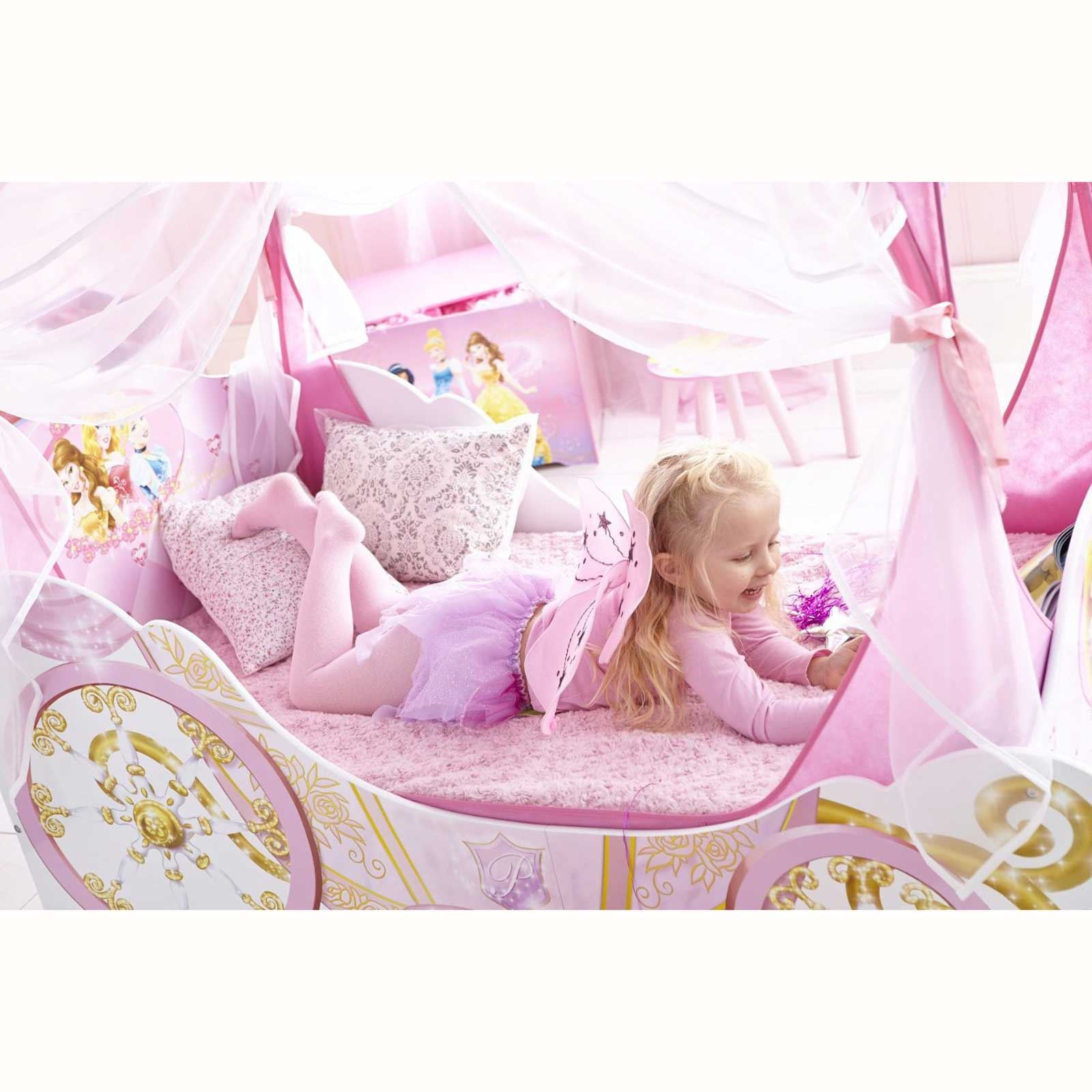 disney kleinkind bett prinzessin kutsche neue matratze schlafzimmer ebay. Black Bedroom Furniture Sets. Home Design Ideas