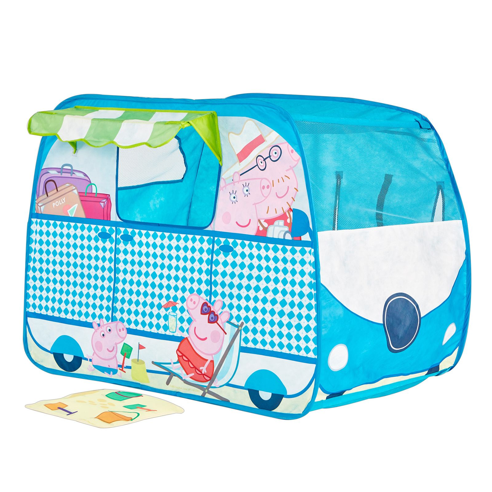 peppa pig wohnwagen pop up rollenspiel blau zelt kinder. Black Bedroom Furniture Sets. Home Design Ideas