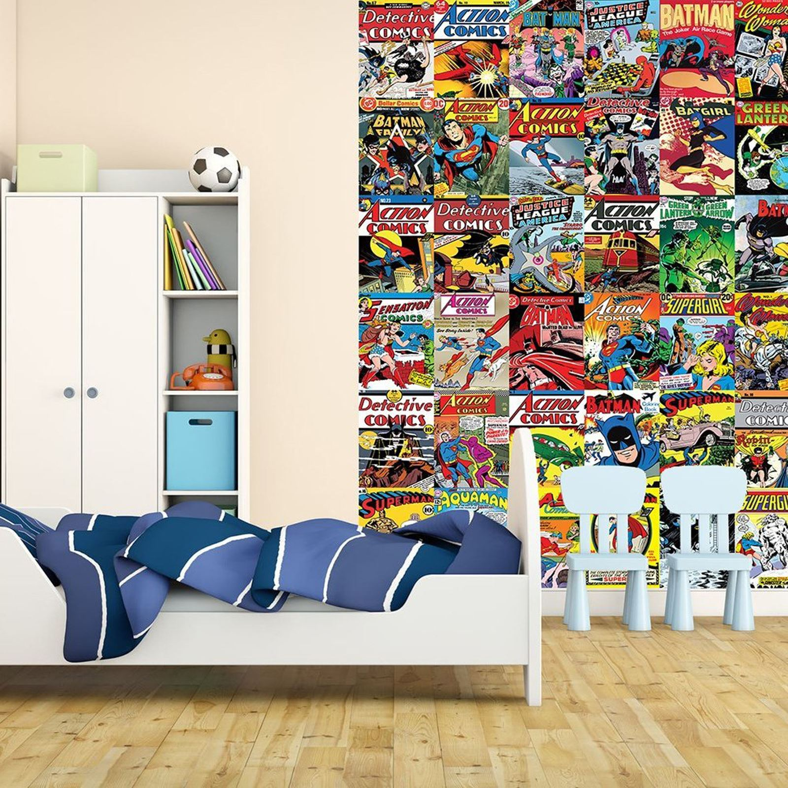 papier mural d cor chambre papier peint marvel comics and. Black Bedroom Furniture Sets. Home Design Ideas