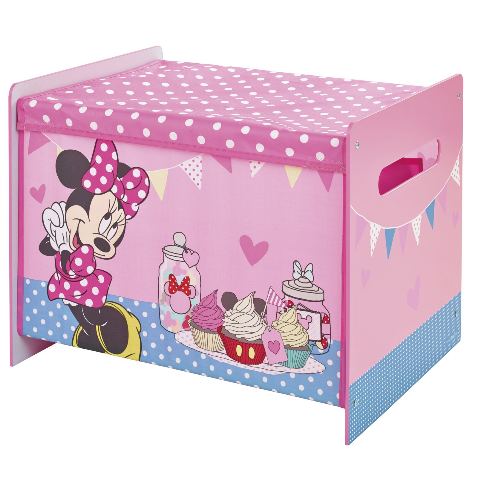 minnie mouse cosytime toy box new official bedroom storage pink girls bedroom ebay. Black Bedroom Furniture Sets. Home Design Ideas