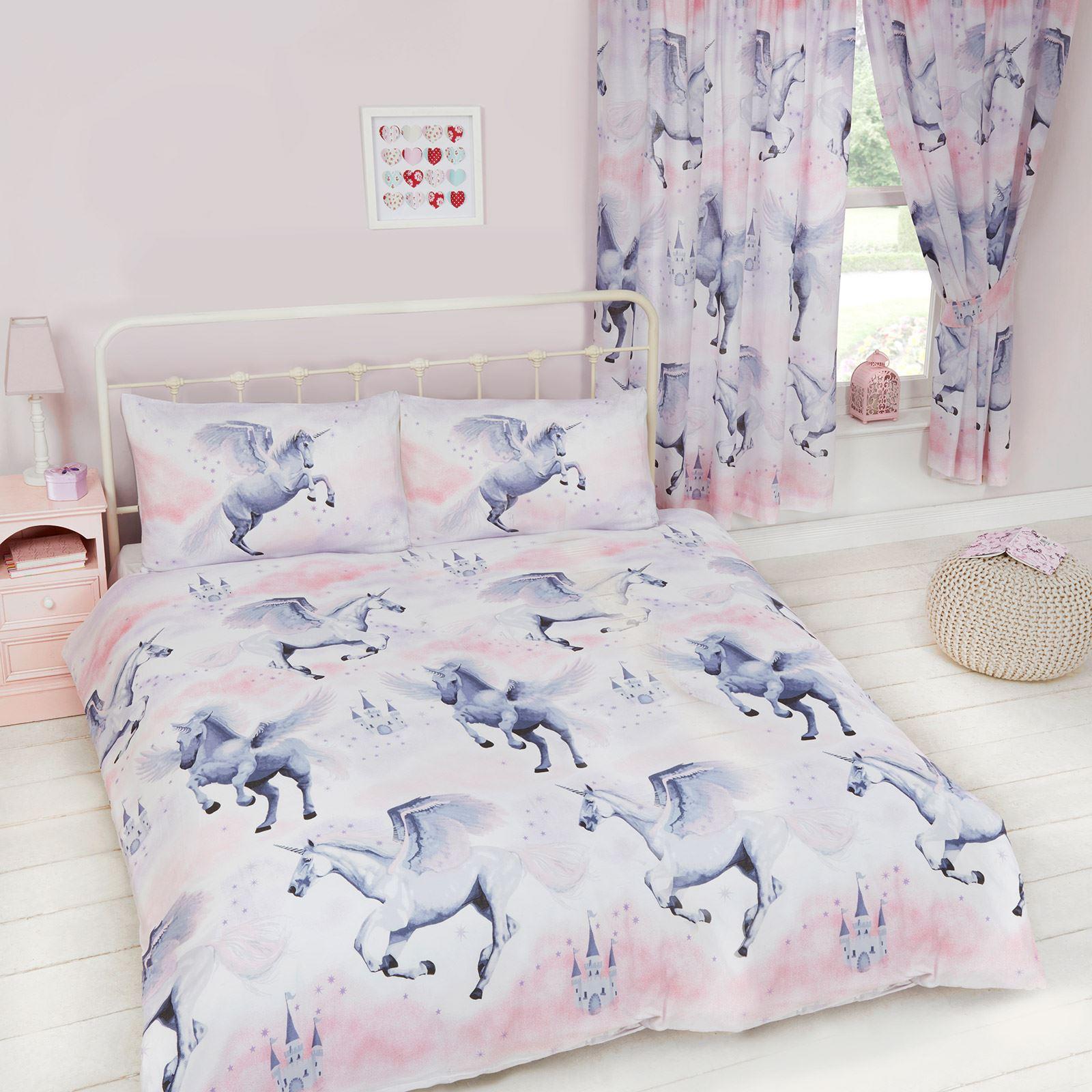 Stardust Unicorn Double Duvet Cover Set New Bedding