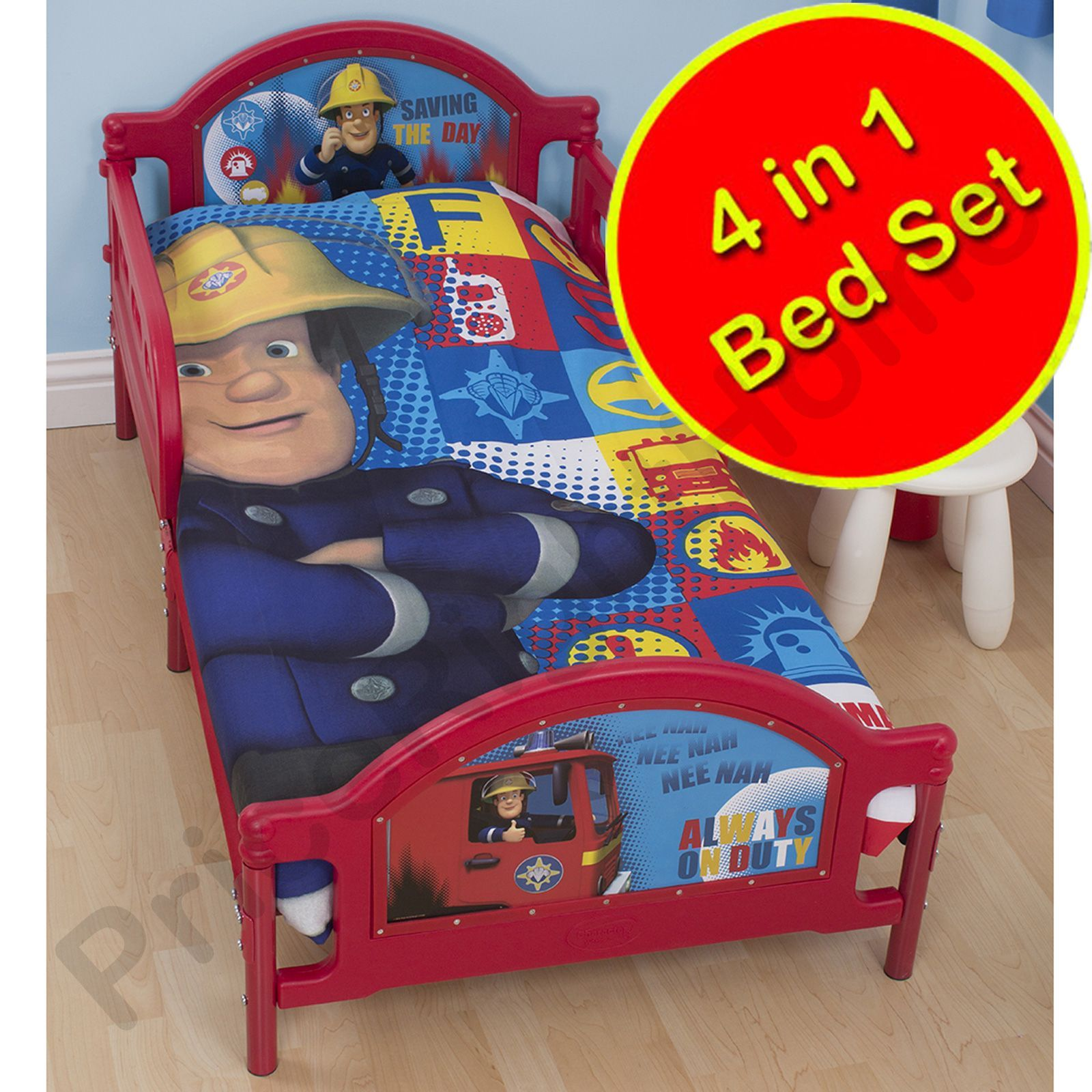 FIREMAN SAM BEDDING BEDROOM ACCESSORIES SINGLE JUNIOR DUVETS CURTAINS RUGS
