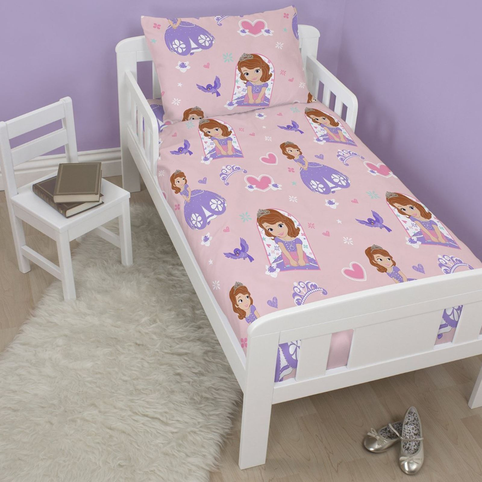 Sofia The First Throw And Pillow Set : SOFIA THE FIRST ACADEMY 4 IN 1 JUNIOR ROTARY BEDDING SET DUVET PILLOW & COVERS eBay