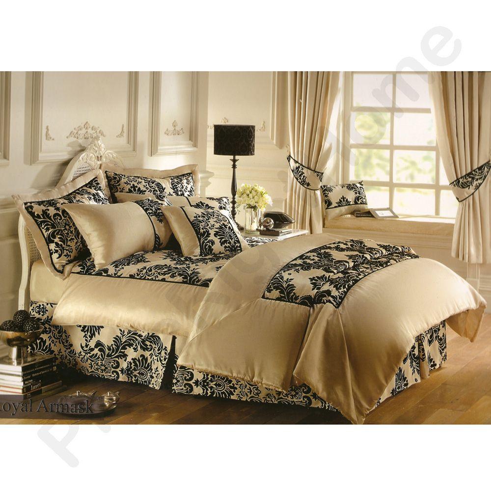 royal armask cr me chocolat couvre lit king 2 coussins ebay. Black Bedroom Furniture Sets. Home Design Ideas