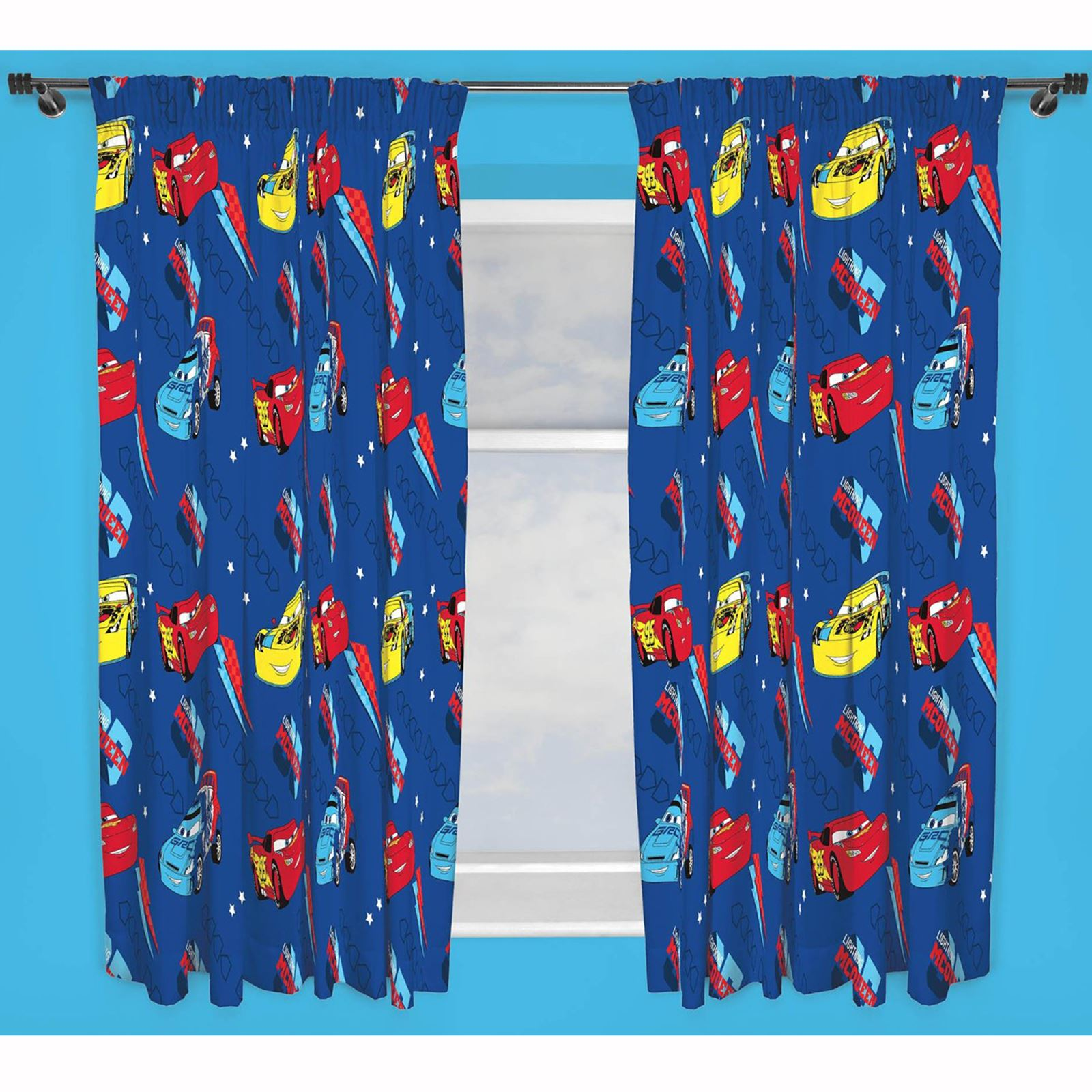 Kids disney and character curtains 54 72 inch drop for Kids curtain company
