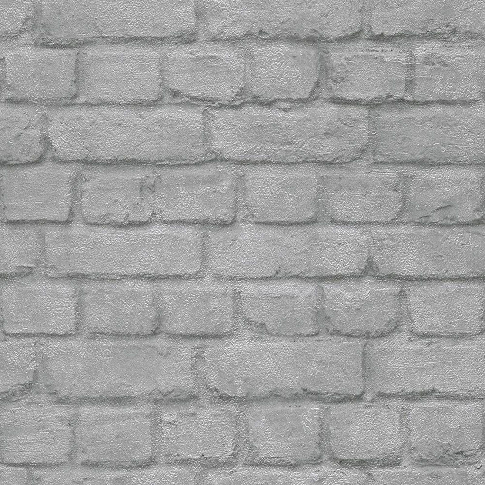 rasch fine decor 10m luxury brick effect wallpaper stone